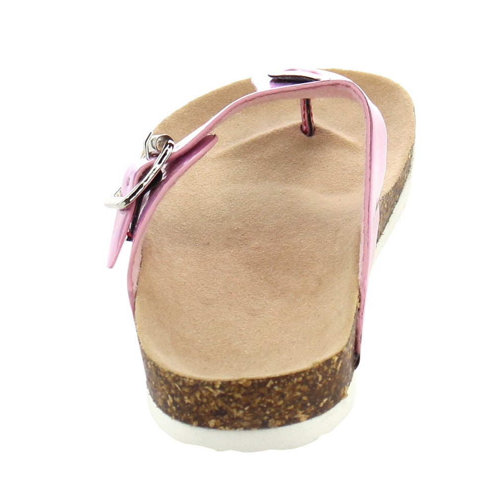 052916f9095b Shop Jelly Beans Girls  Metallic Faux Leather Flip Flop Sandals - Free  Shipping On Orders Over  45 - Overstock - 11911082