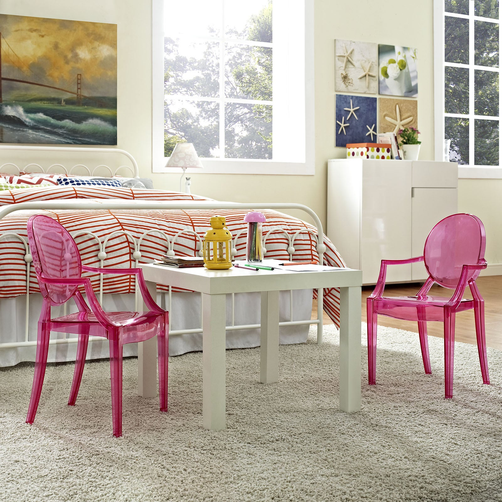 Shop Casper Pink Polycarbonate Kidsu0027 Chair   Free Shipping Today    Overstock.com   11914695