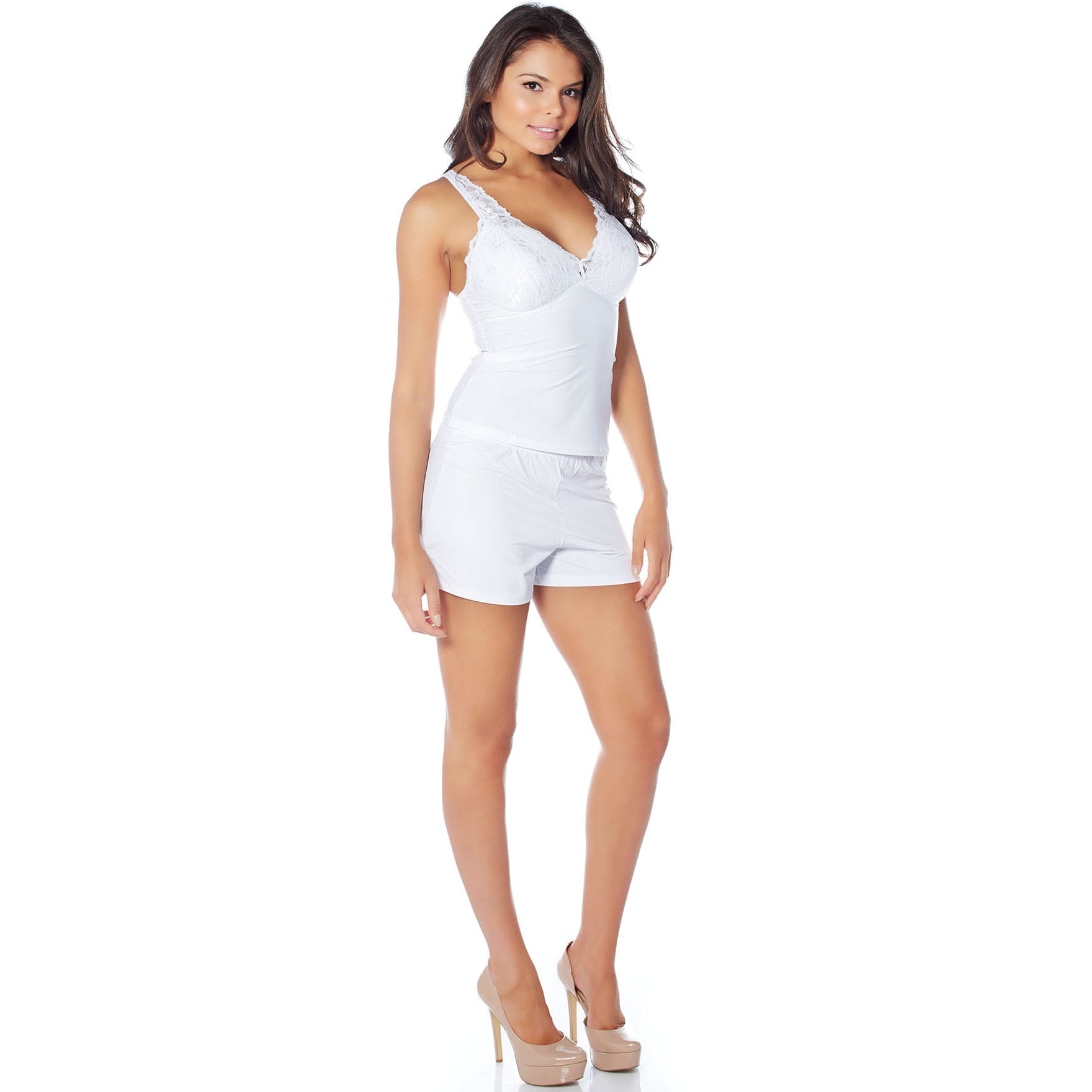 c83cd75653 Shop Rhonda Shear Sweet Secret Butterknit Cami and Shorts Set - Free  Shipping On Orders Over  45 - Overstock.com - 11914871