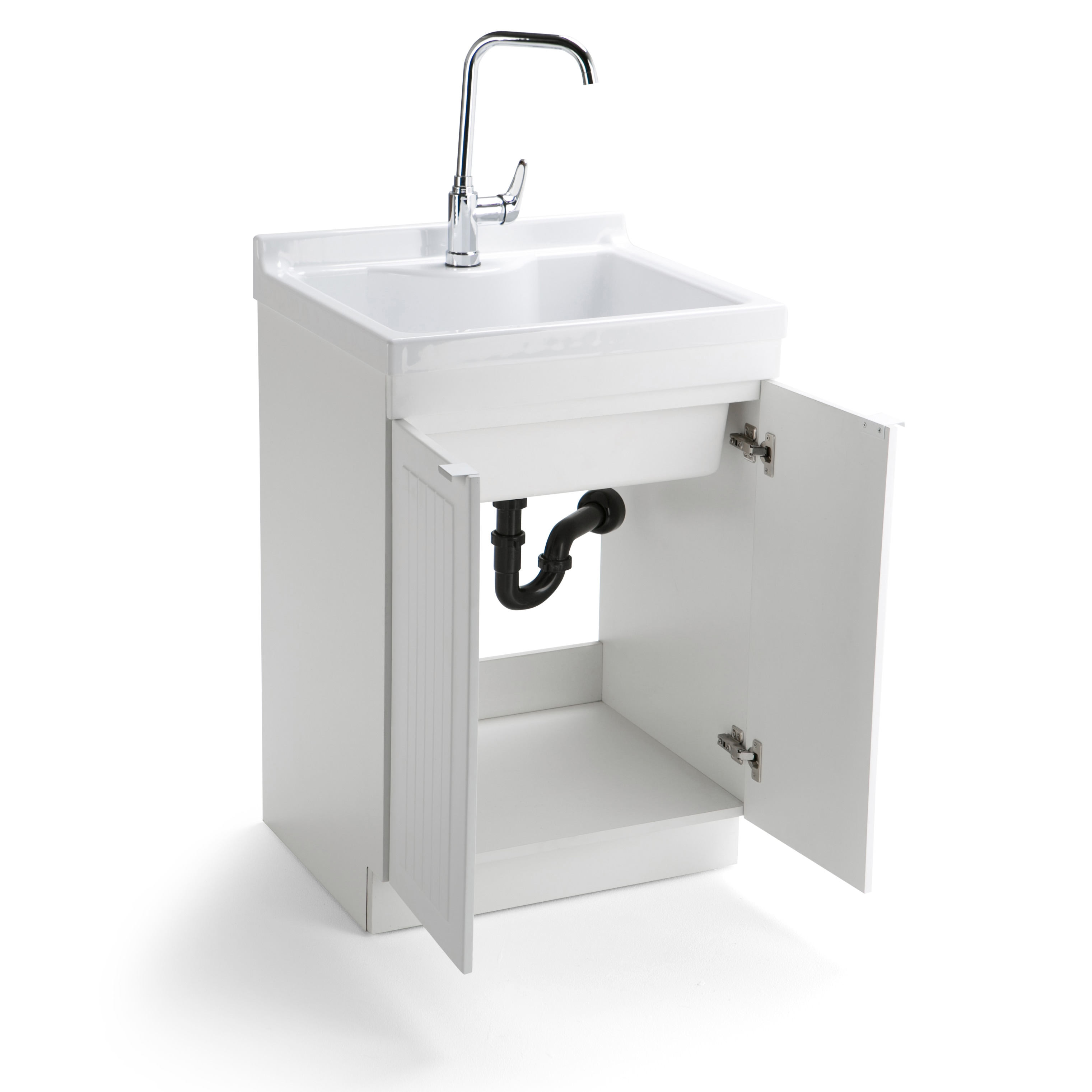 Wyndenhall Bi 24 Inch Laundry Cabinet With Faucet And Abs Sink On Free Shipping Today 11915486