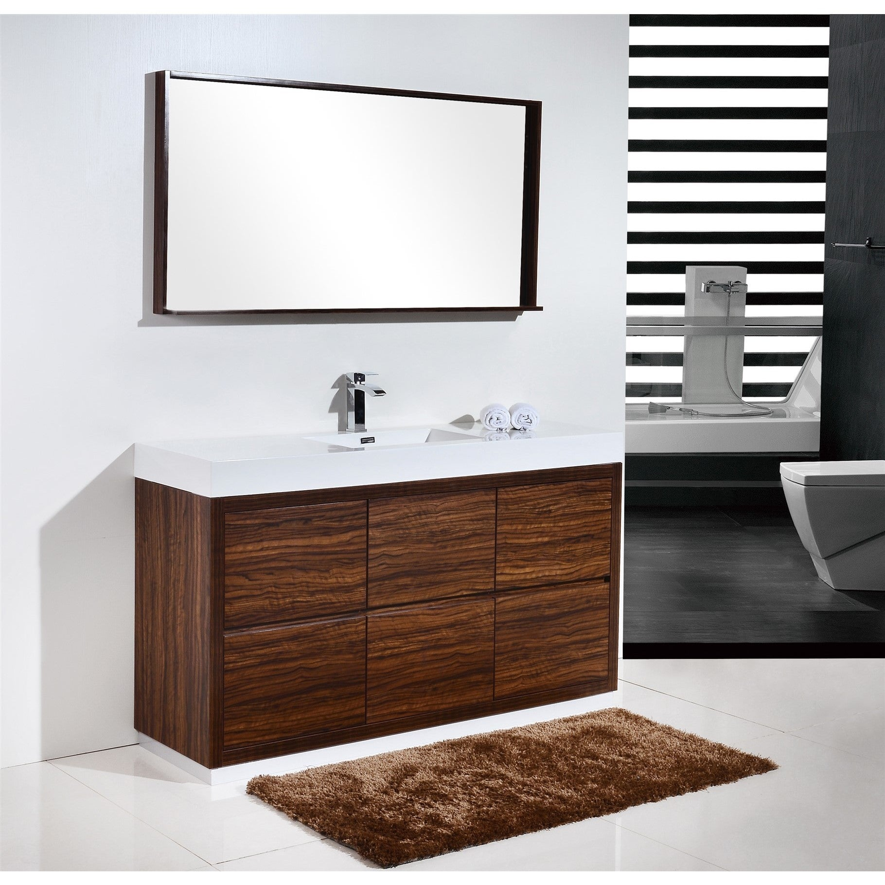 Shop Kubebath Bliss 59 Inch Single Sink Bathroom Vanity Free