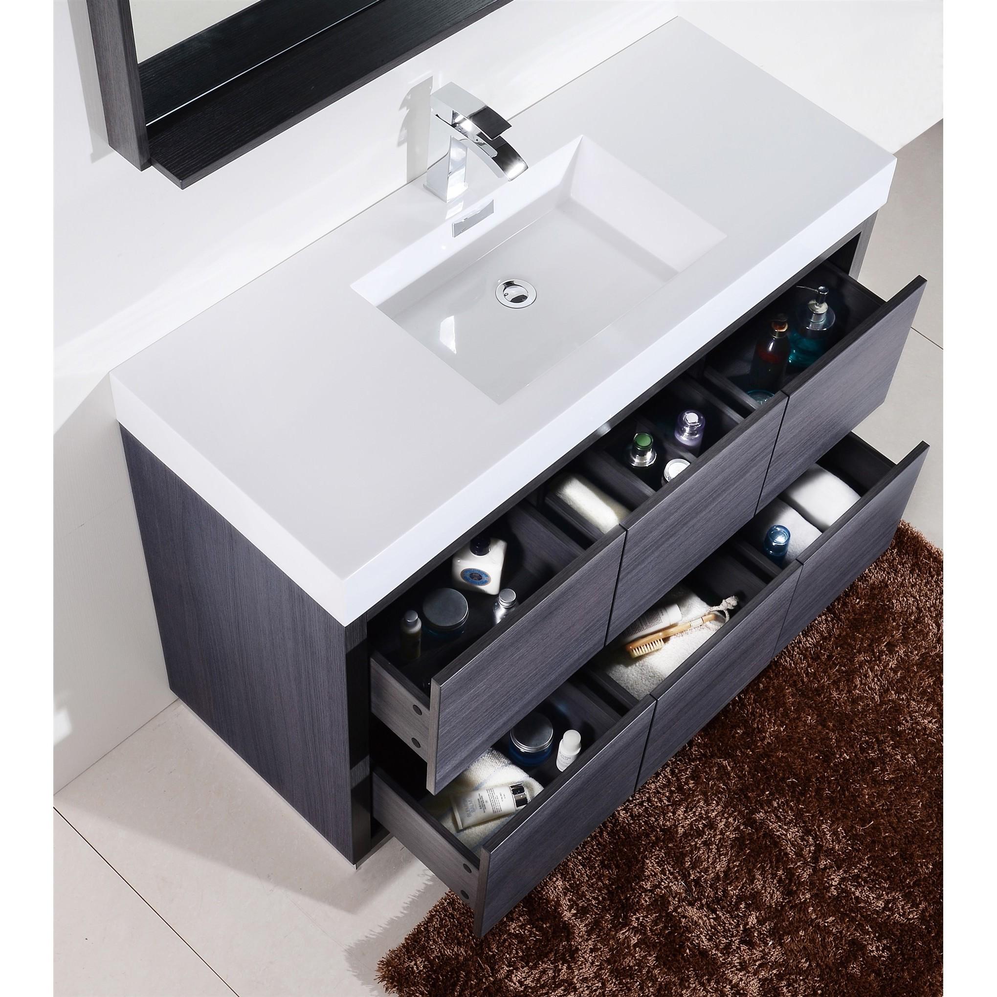 KubeBath Bliss 59 Inch Single Sink Bathroom Vanity   Free Shipping Today    Overstock.com   18807446