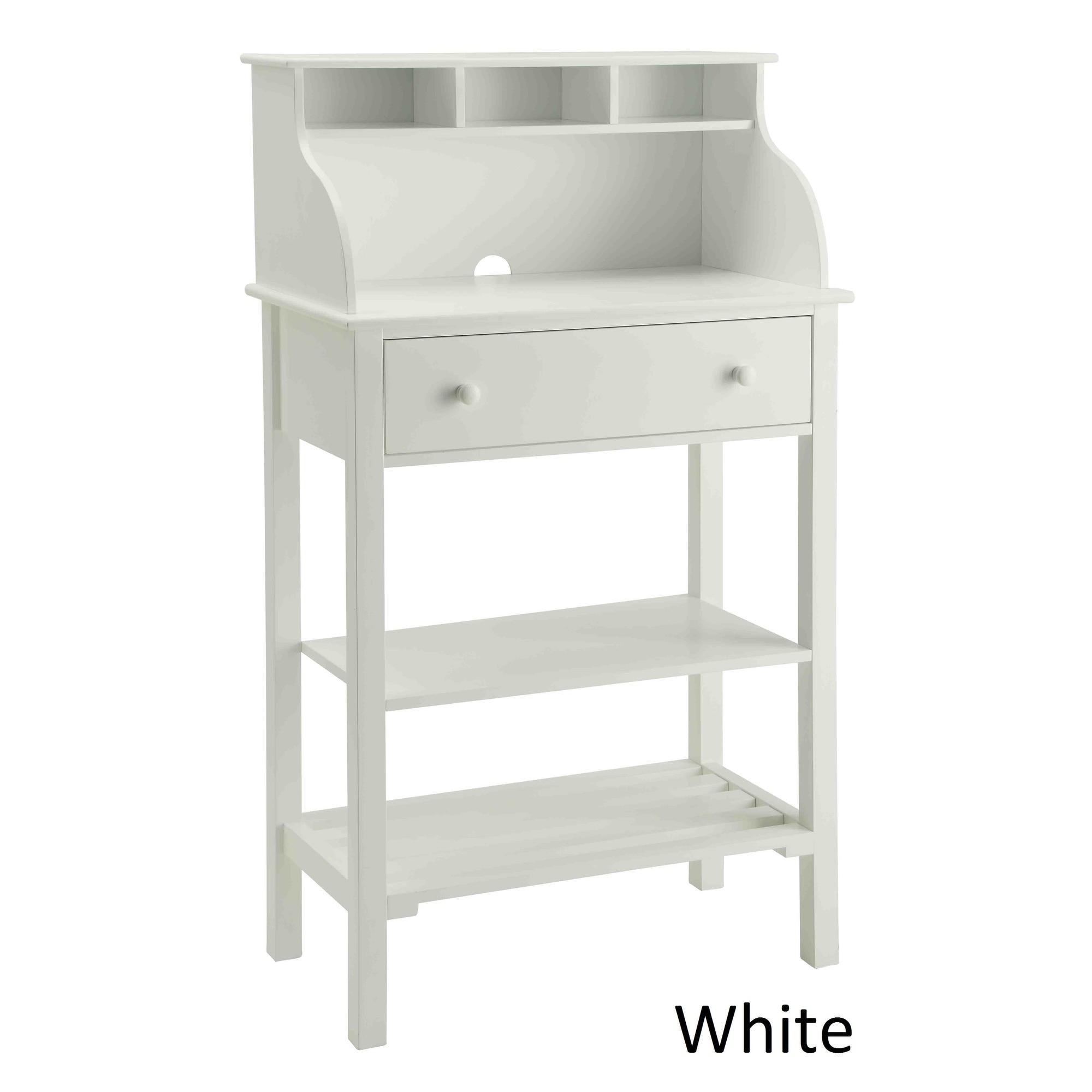 Maison Rouge Antonetta White Wood Office Kitchen Storage Desk
