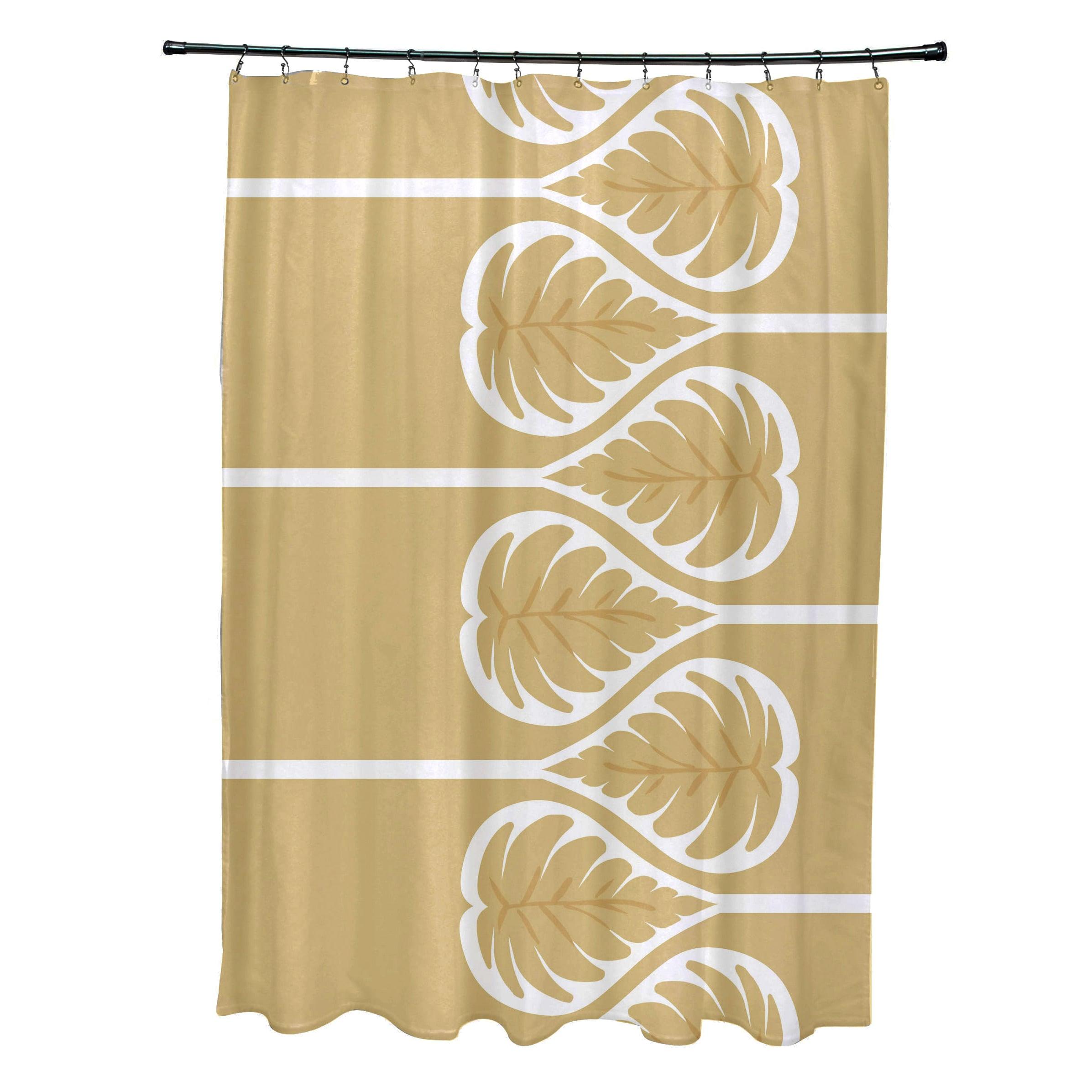 71 X 74 Inch Fern 1 Floral Print Shower Curtain