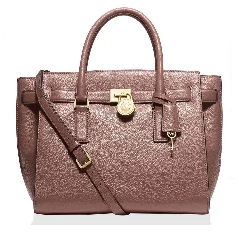 dc3db2a37eec Shop Michael Kors Hamilton Traveler Large Leather Dusty Rose Satchel Handbag  - Free Shipping Today - Overstock - 11916937