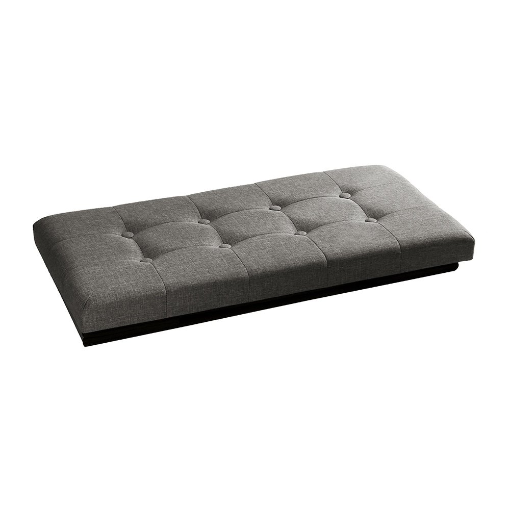 Shop Seville Classics Foldable Storage Bench/Ottoman, Charcoal Grey   Free  Shipping On Orders Over $45   Overstock.com   11923683