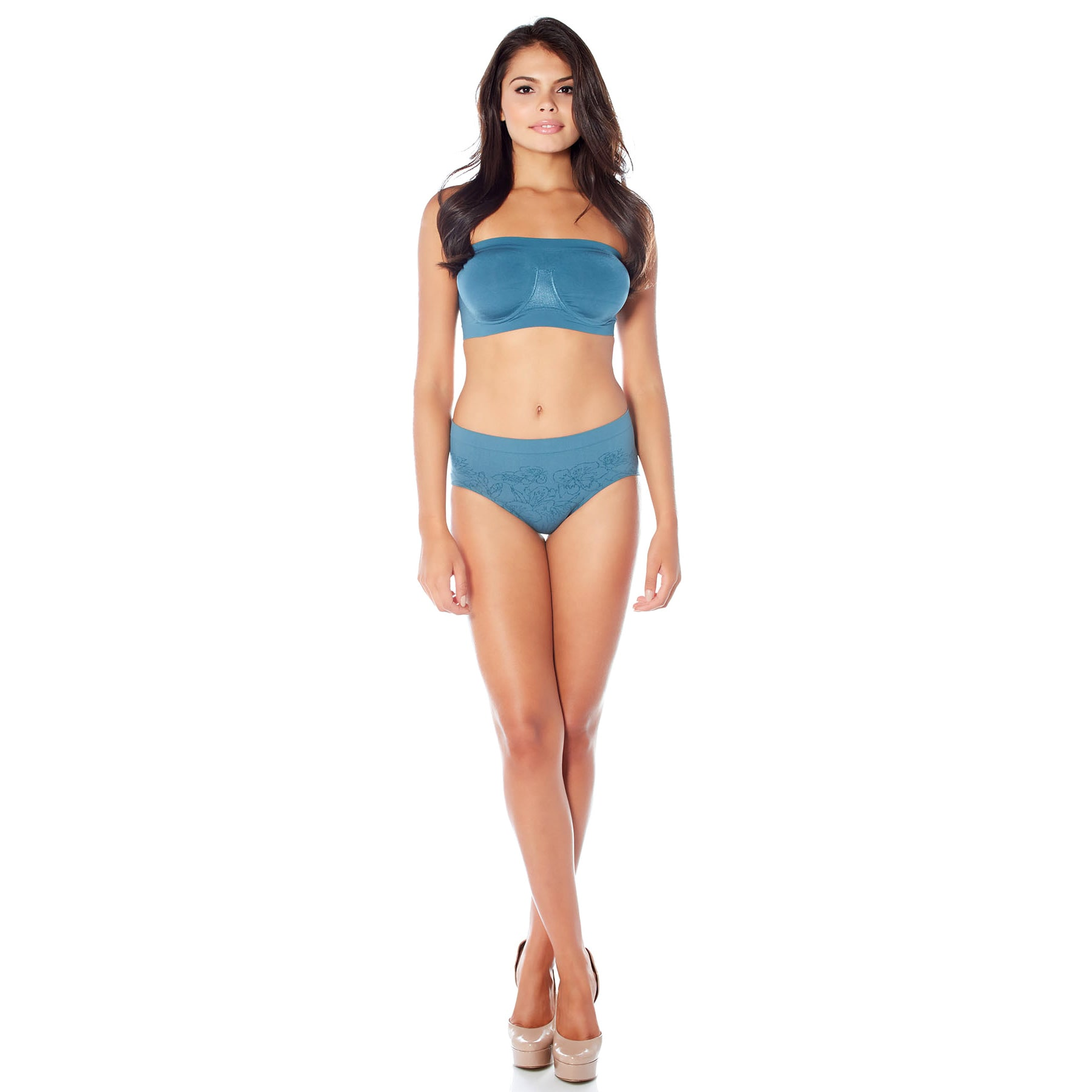 a868acdeb2d Rhonda Shear Angel Polyester and Spandex Seamless Underwire Bandeau Bra