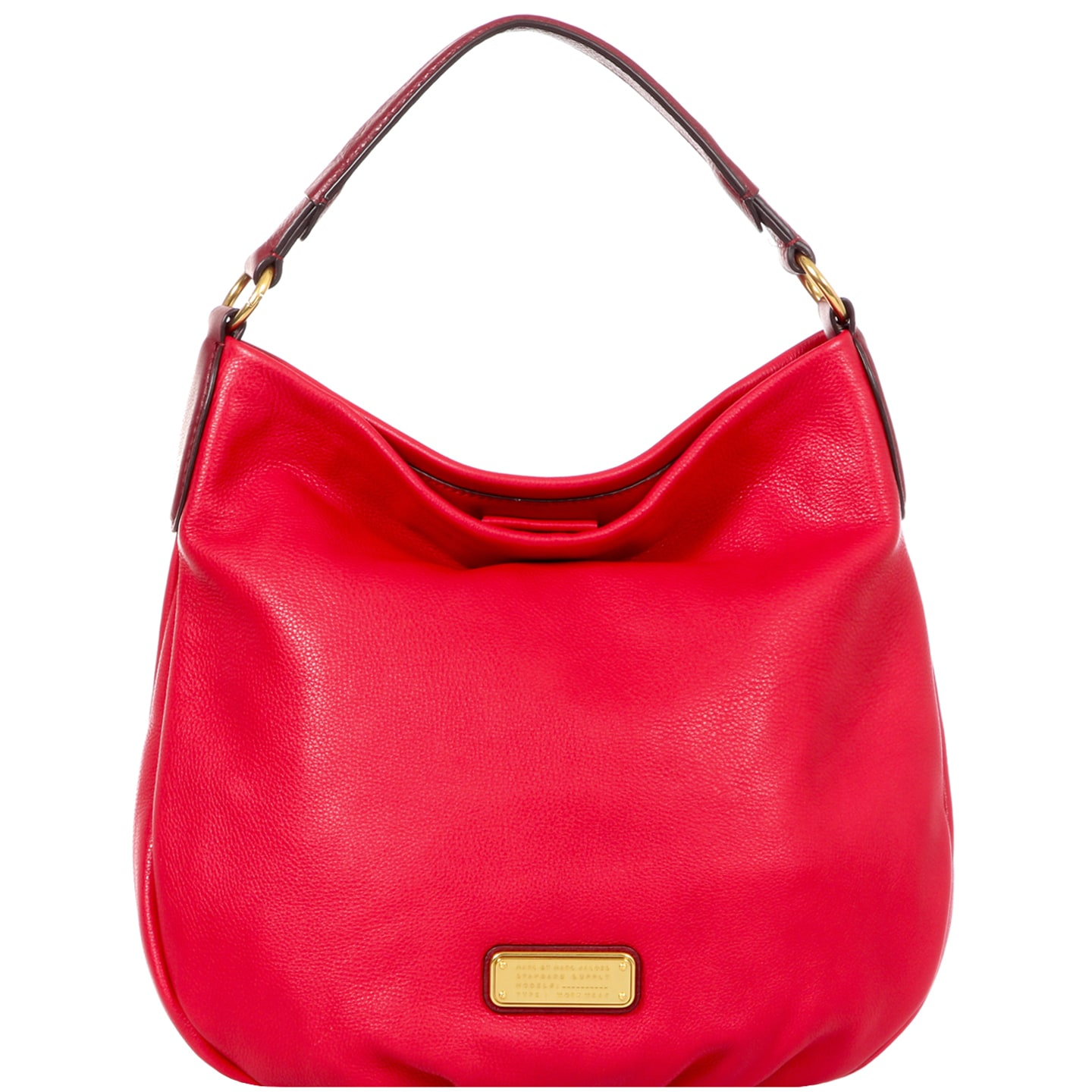Marc By Jacobs New Q Hillier Hobo Rosey Red Leather Handbag On Free Shipping Today 11926927