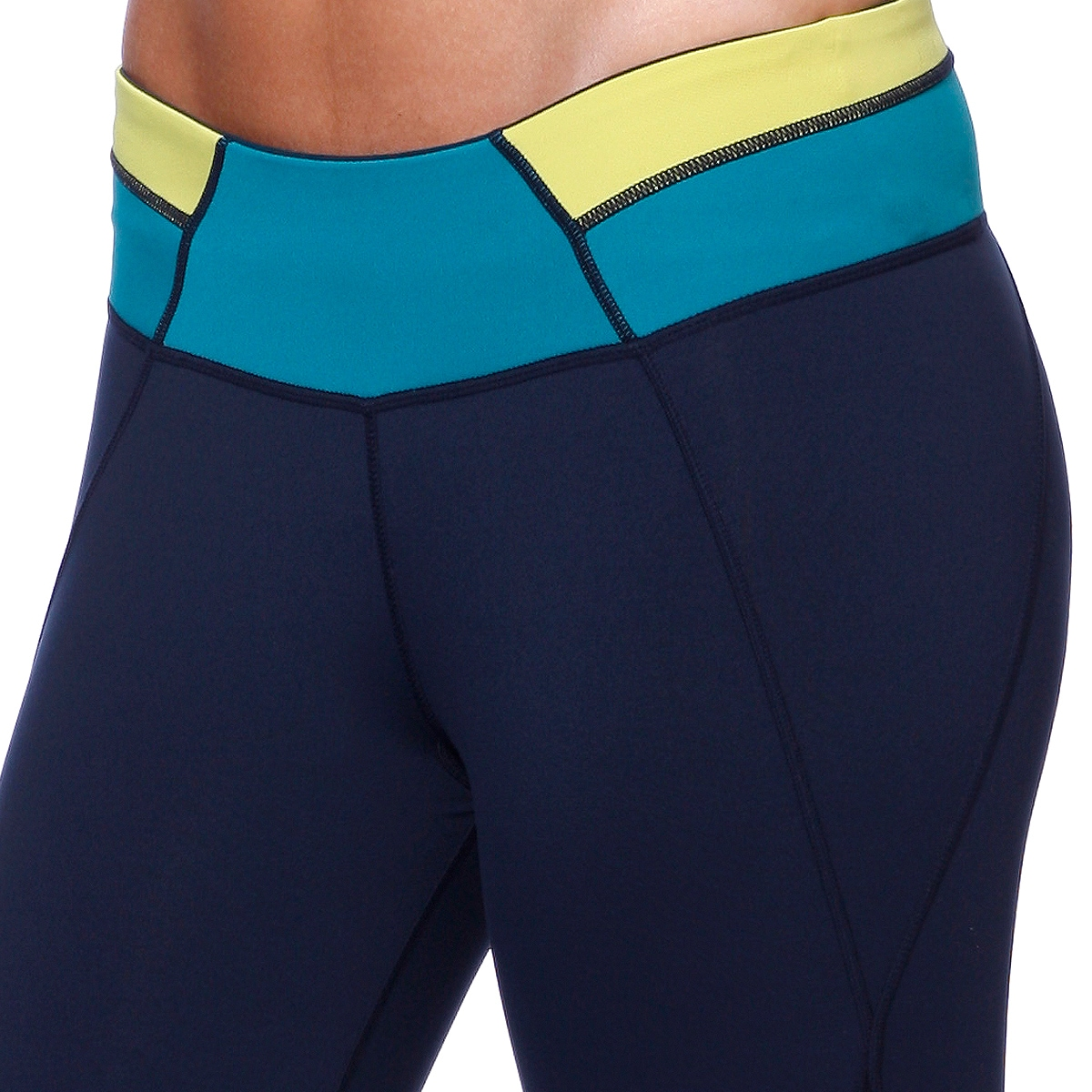 f838cf1f91 Shop Nikibiki Activewear Colorblock Contrast Yoga Pants - Free Shipping On  Orders Over $45 - Overstock - 11928086