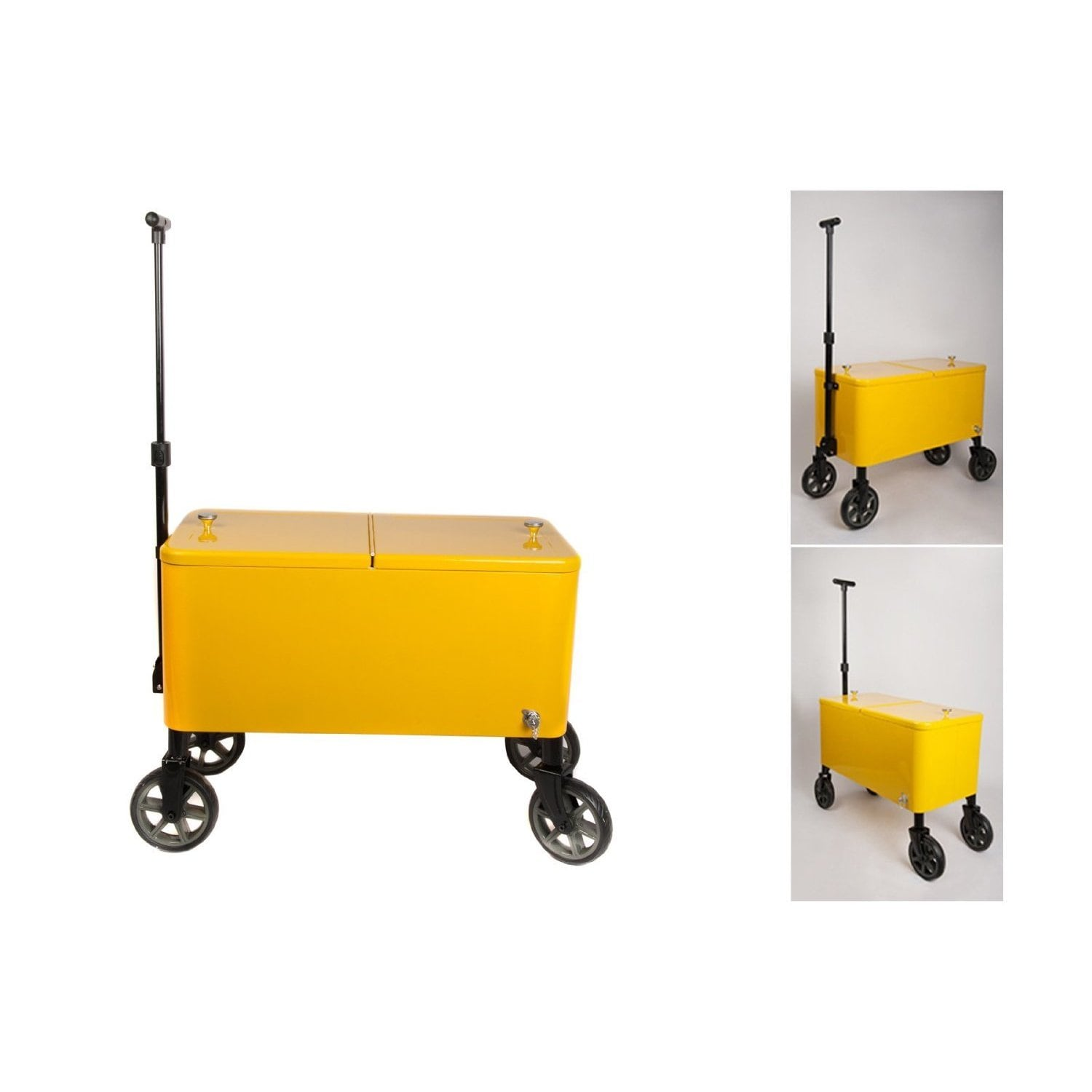 HIO Yellow Plastic 60 Quart Outdoor Patio Cooler Cart   Free Shipping Today    Overstock.com   18818772