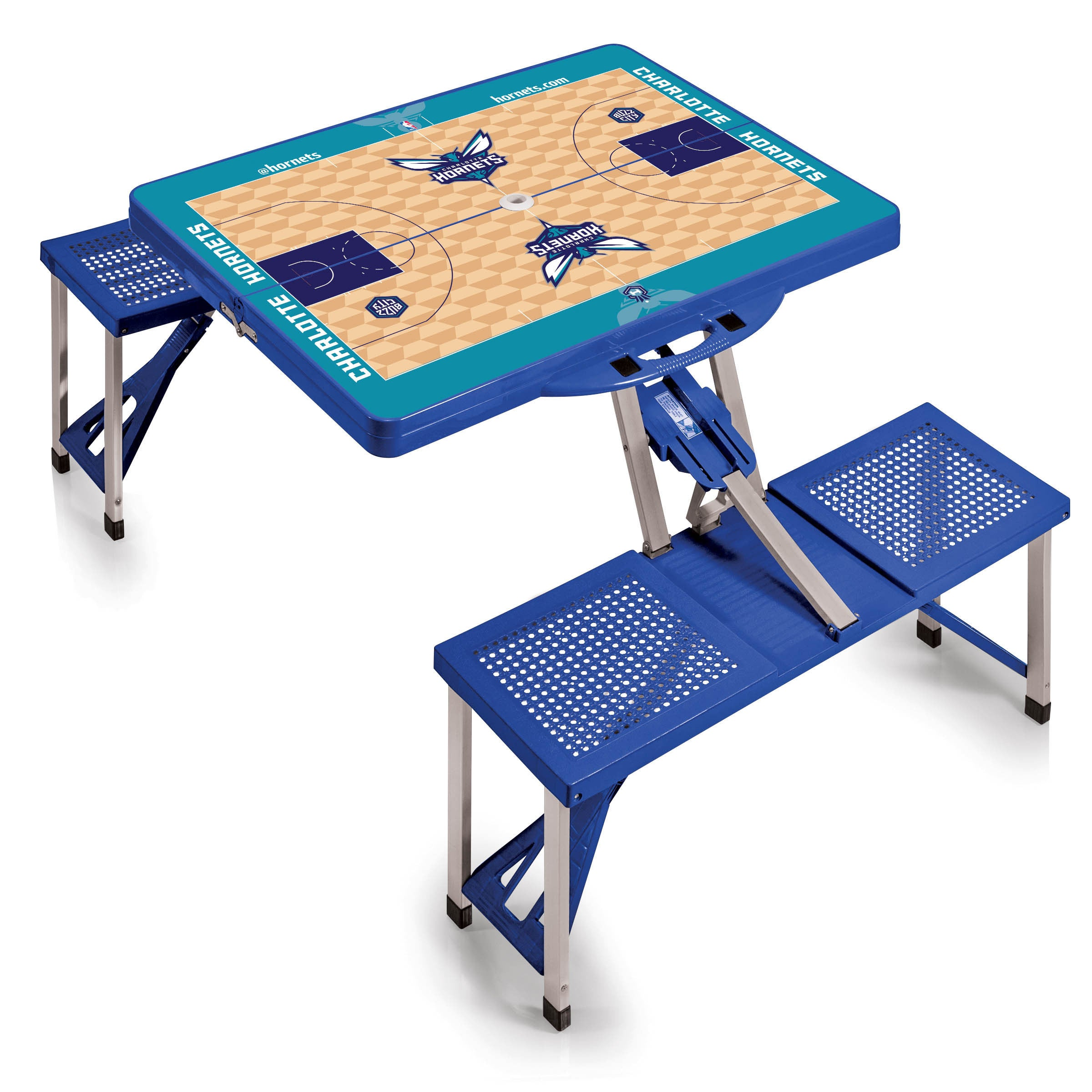 Shop Picnic Time Charlotte Hornets Aluminum/Plastic Portable Picnic Table  With Sports Field Design   On Sale   Free Shipping Today   Overstock.com    ...