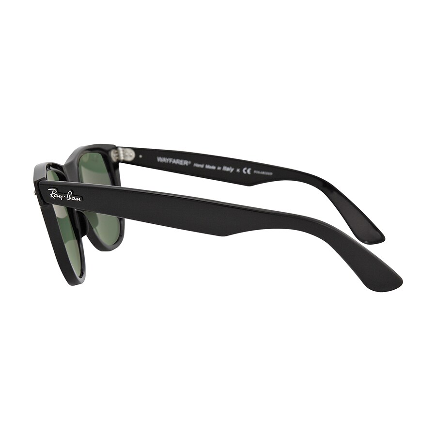 b86679c34e Shop Ray-Ban RB2140 901 58 Original Wayfarer Classic Black Frame Polarized  Green Classic 54mm Lens Sunglasses - Free Shipping Today - Overstock -  11929951