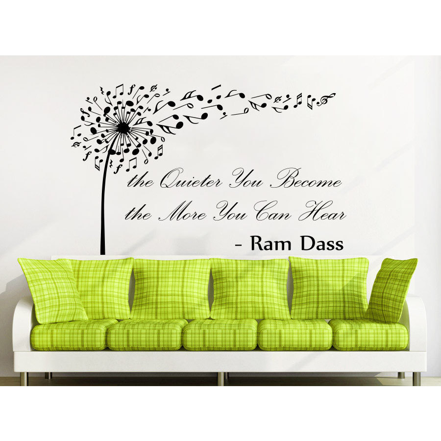 Shop Quote Ram Dass The Quieter You Become The More Wall Art Sticker