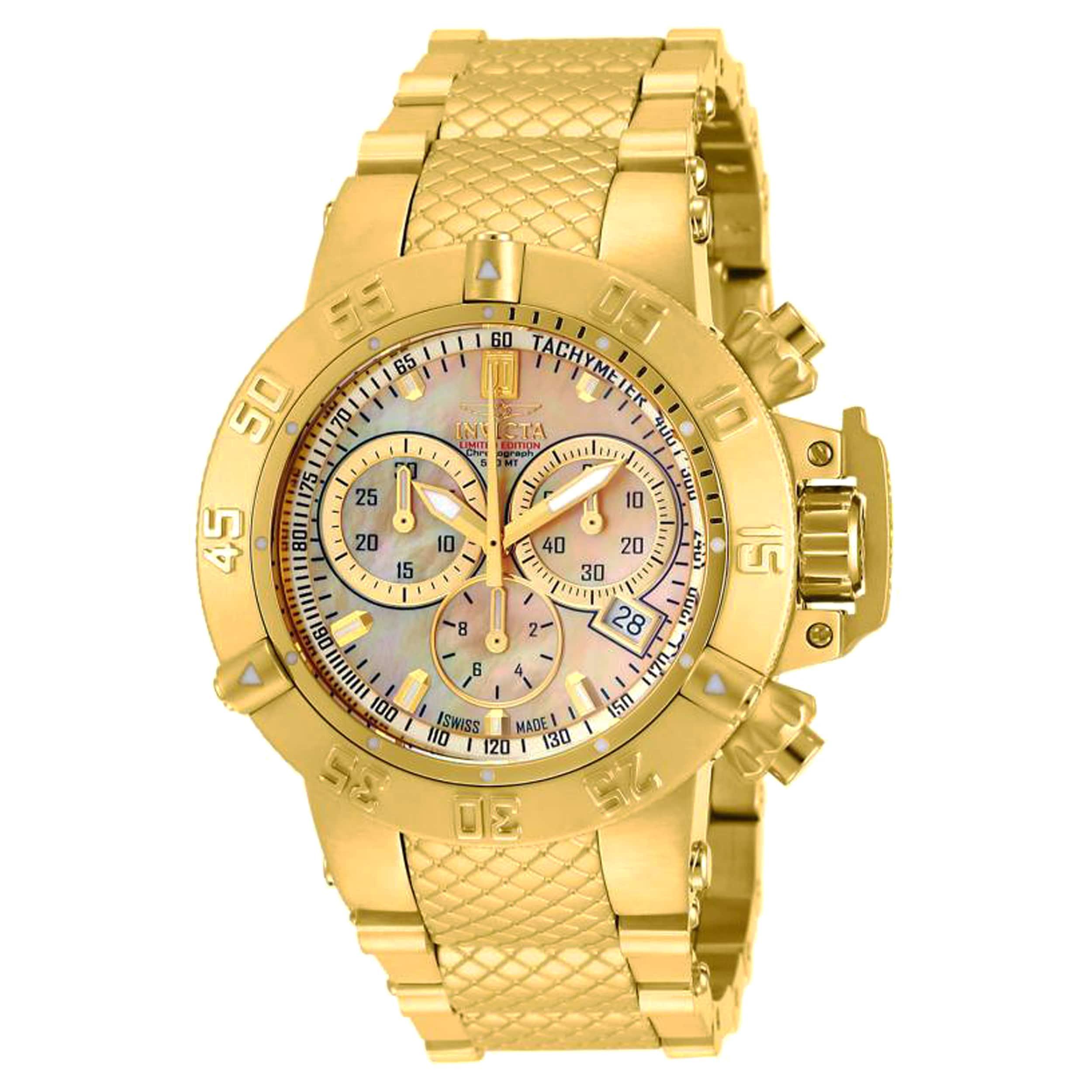 Shop Invicta Women s 14597 Jason Taylor Quartz Chronograph Gold Dial Watch  - Free Shipping Today - Overstock.com - 11932160 7a7d2621e4