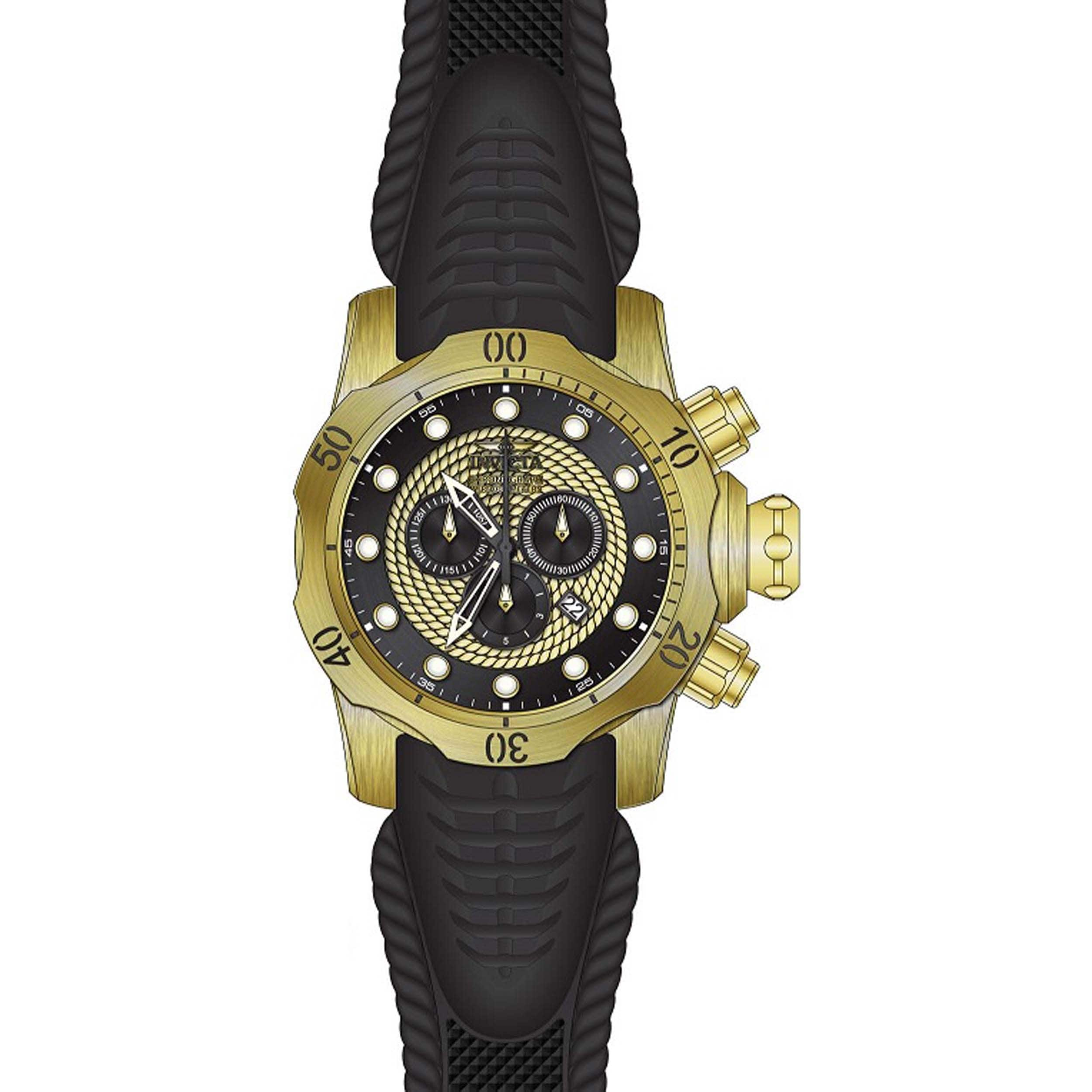 768d5d1a7 Shop Invicta Men's 20443 Venom Quartz Chronograph Black, Gold Dial Watch -  Free Shipping Today - Overstock - 11933596