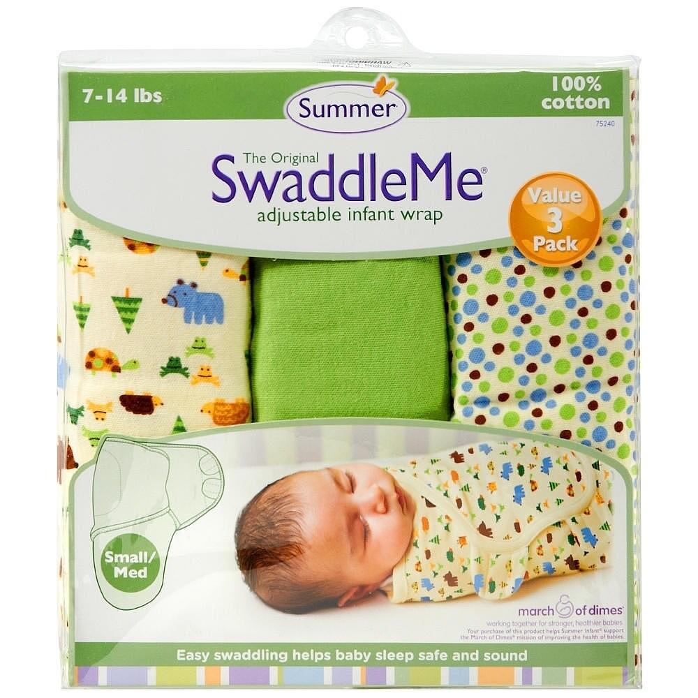 Shop Summer Infants Swaddleme Nature Lover Pack Of 3 Wrapsack