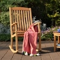 Sherwood Natural Teak Porch Rocker