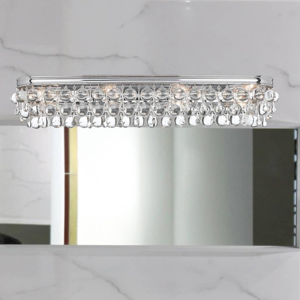 8 light chrome glass bath vanity light