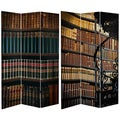 Double Sided Library 6-foot Tall Canvas Room Divider