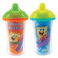 Munchkin SpongeBob Orange Skate/Aqua Surf Plastic ClickLock 9-ounce Sippy Cup (Set of 2)