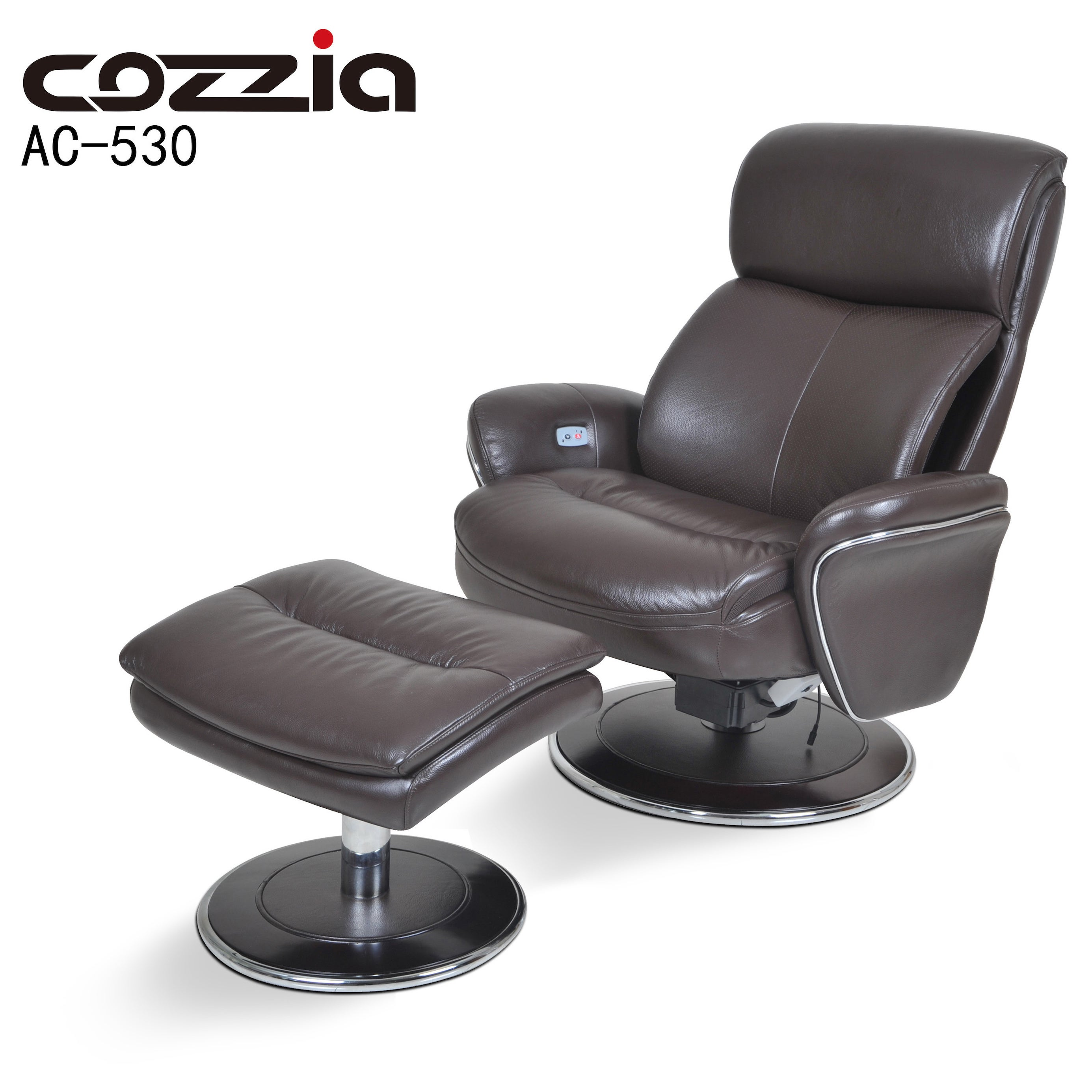 Shop Cozzia Black/Brown Leather Ergonomic Chair and Ottoman - Free Shipping Today - Overstock.com - 11936641  sc 1 st  Overstock.com & Shop Cozzia Black/Brown Leather Ergonomic Chair and Ottoman - Free ...