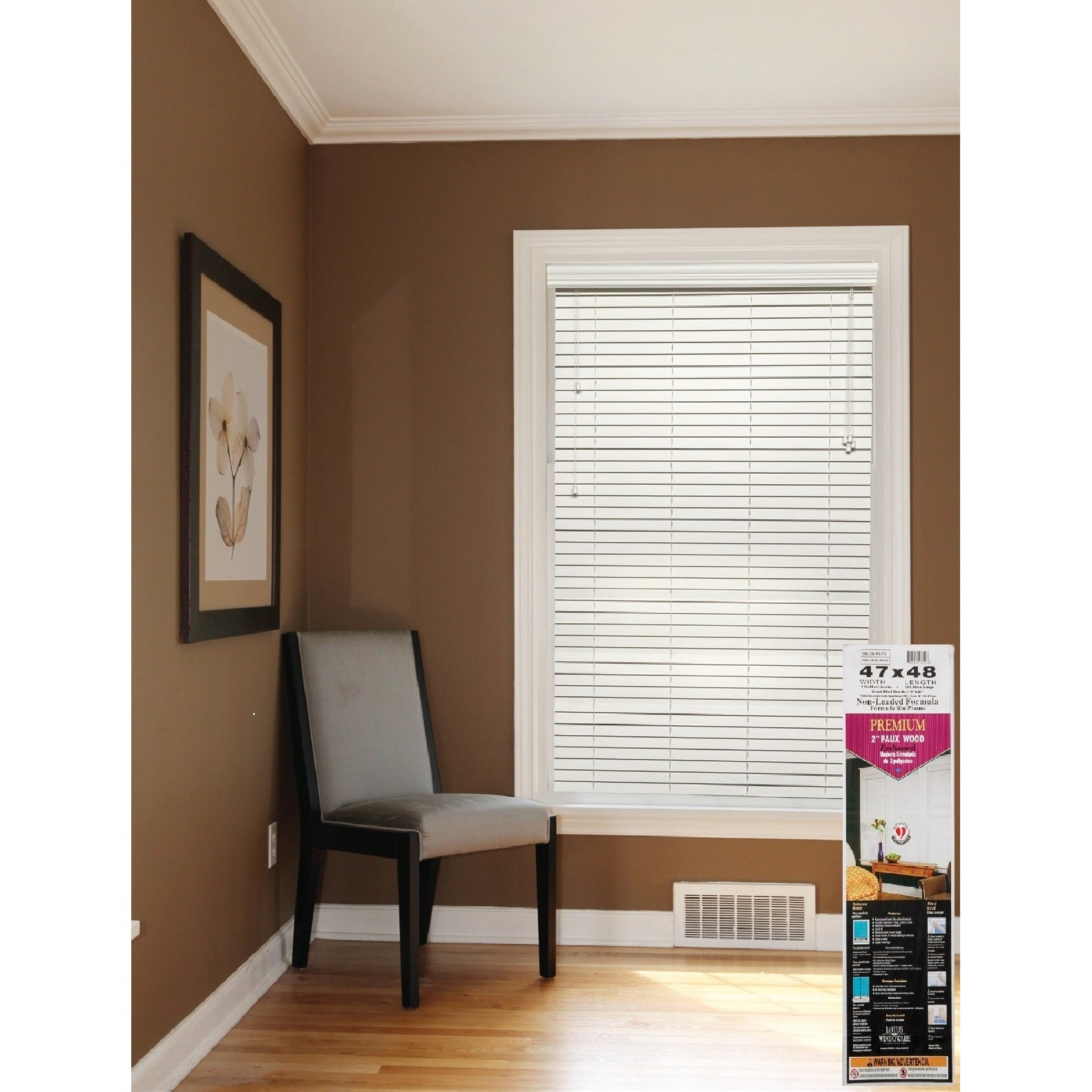 Shop Alabaster 2-inch Faux-wood Blind 9 to 95-inch wide - On Sale ...