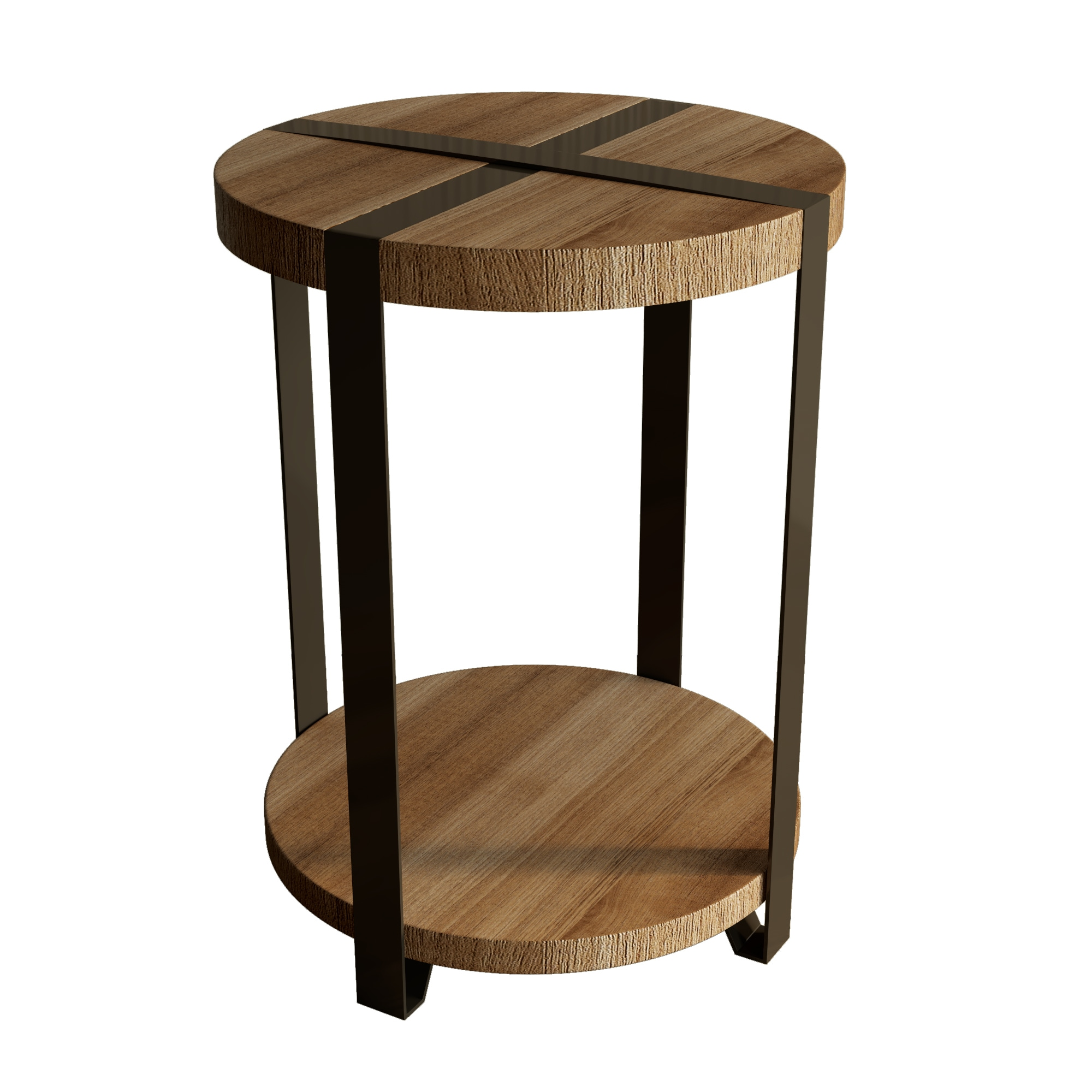 Shop carbon loft kenyon natural reclaimed wood metal rustic round end table on sale free shipping today overstock com 20306499