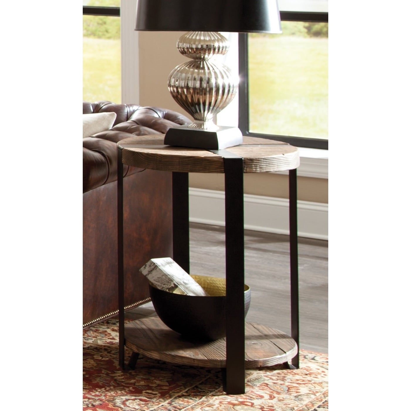 rustic round end table. Shop Carbon Loft Kenyon Natural Reclaimed Wood/Metal Rustic Round End Table - On Sale Free Shipping Today Overstock.com 20306499