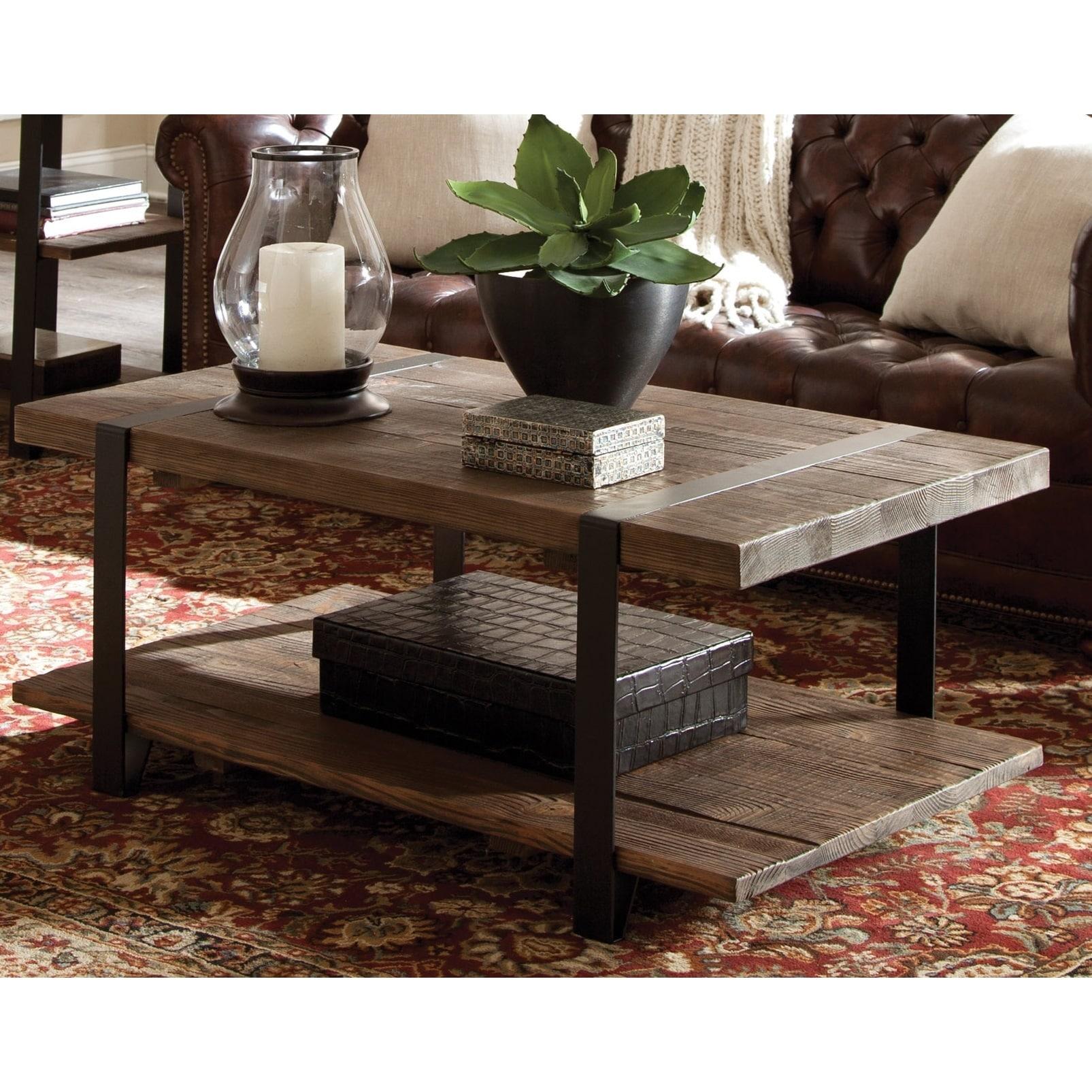 Carbon loft kenyon natural rustic coffee table