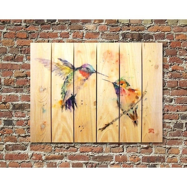 Crouser\'s Love Birds Full-color Cedar 33-inch x 24-inch Indoor ...