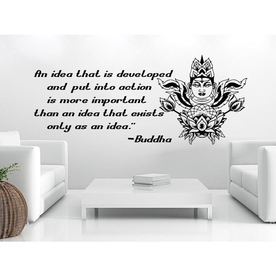 Shop Quote Lotus Flower Yoga Buddha An Idea That Is Developed And