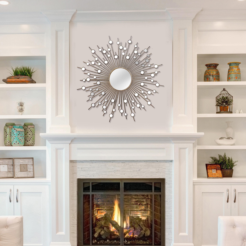 Shop Stratton Home Decor Indoor Sunburst Wall Mirror On Sale Overstock 11948465