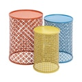 Blue/Yellow/Orange Metal Set of 3 Nesting Accent Tables