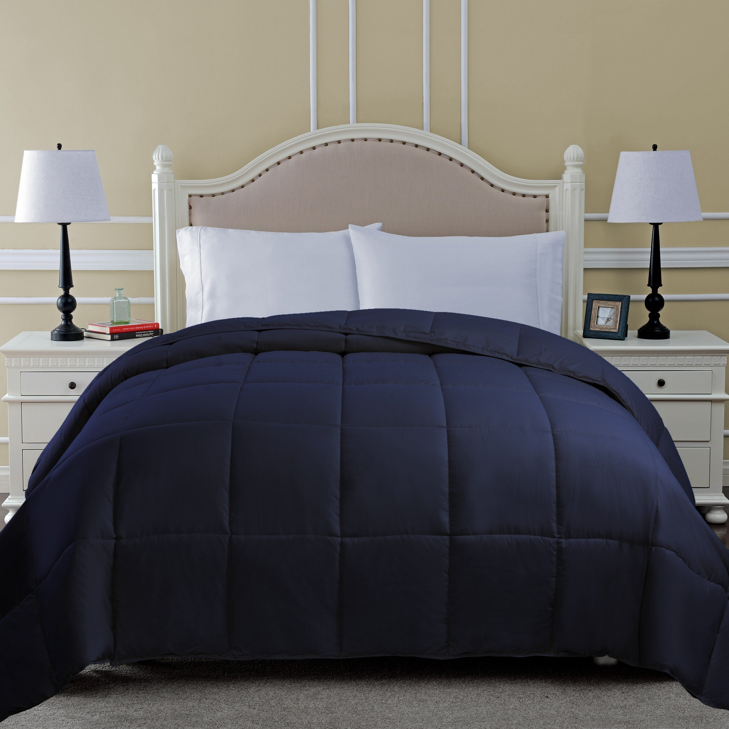 product down microfiber overstock color comforter bath shipping free bedding on over alternative orders solid