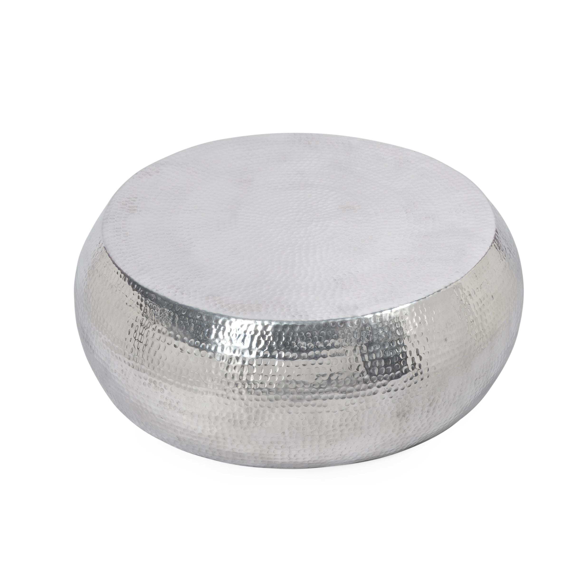 Aurelle Home Silver Drum Coffee Table Free Shipping Today