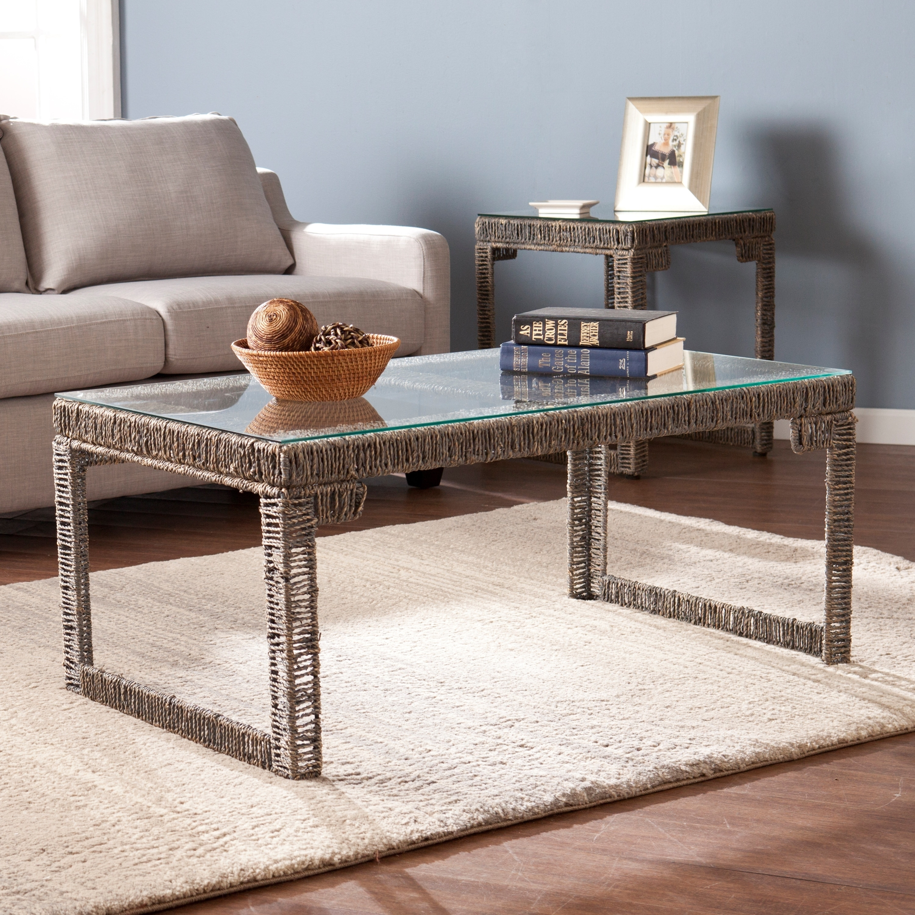 Harper Blvd Alvin Woven Coffee Cocktail Table Free Shipping