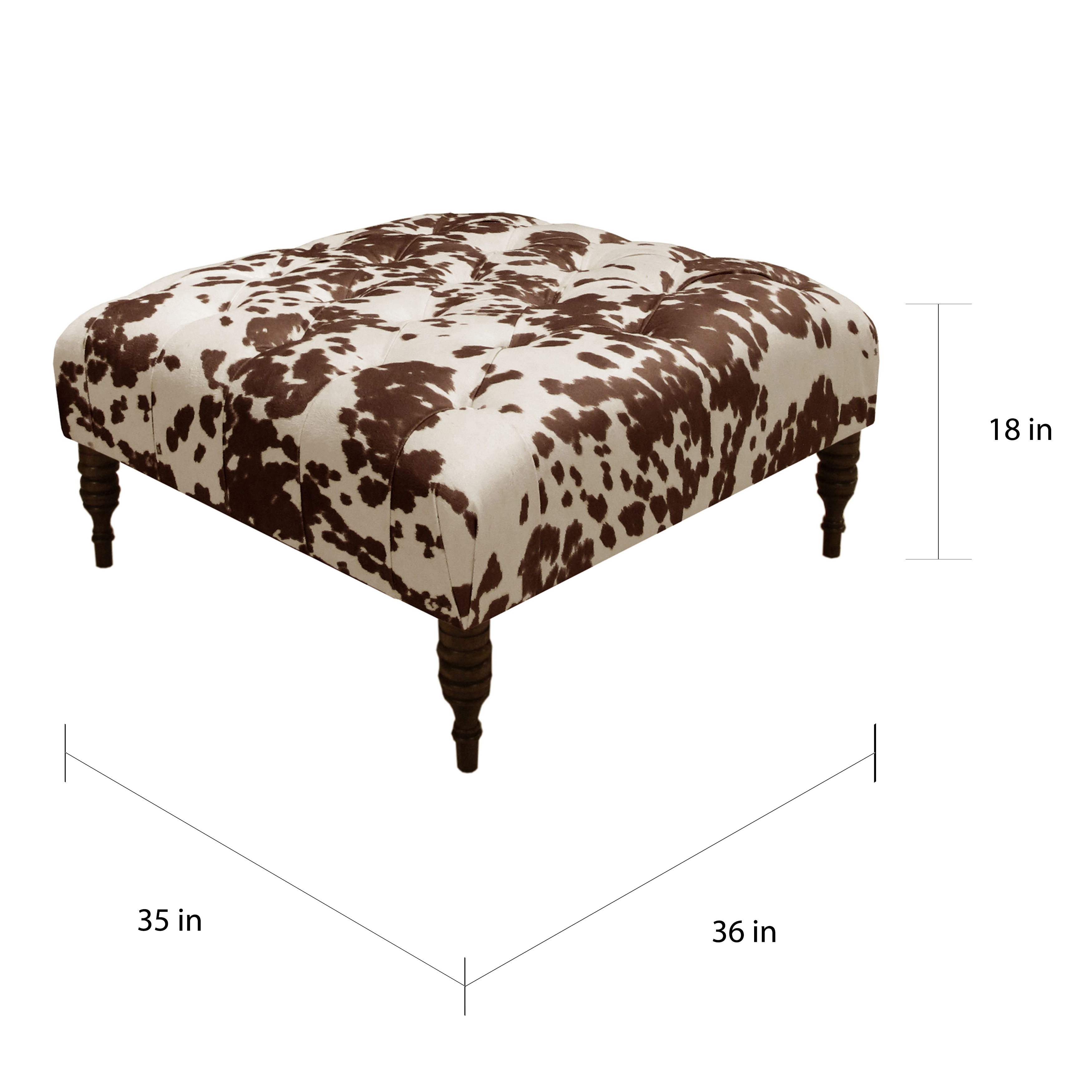 Skyline Furniture Udder Madness Milk Polyester Tufted Tail Ottoman On Free Shipping Today 11951279