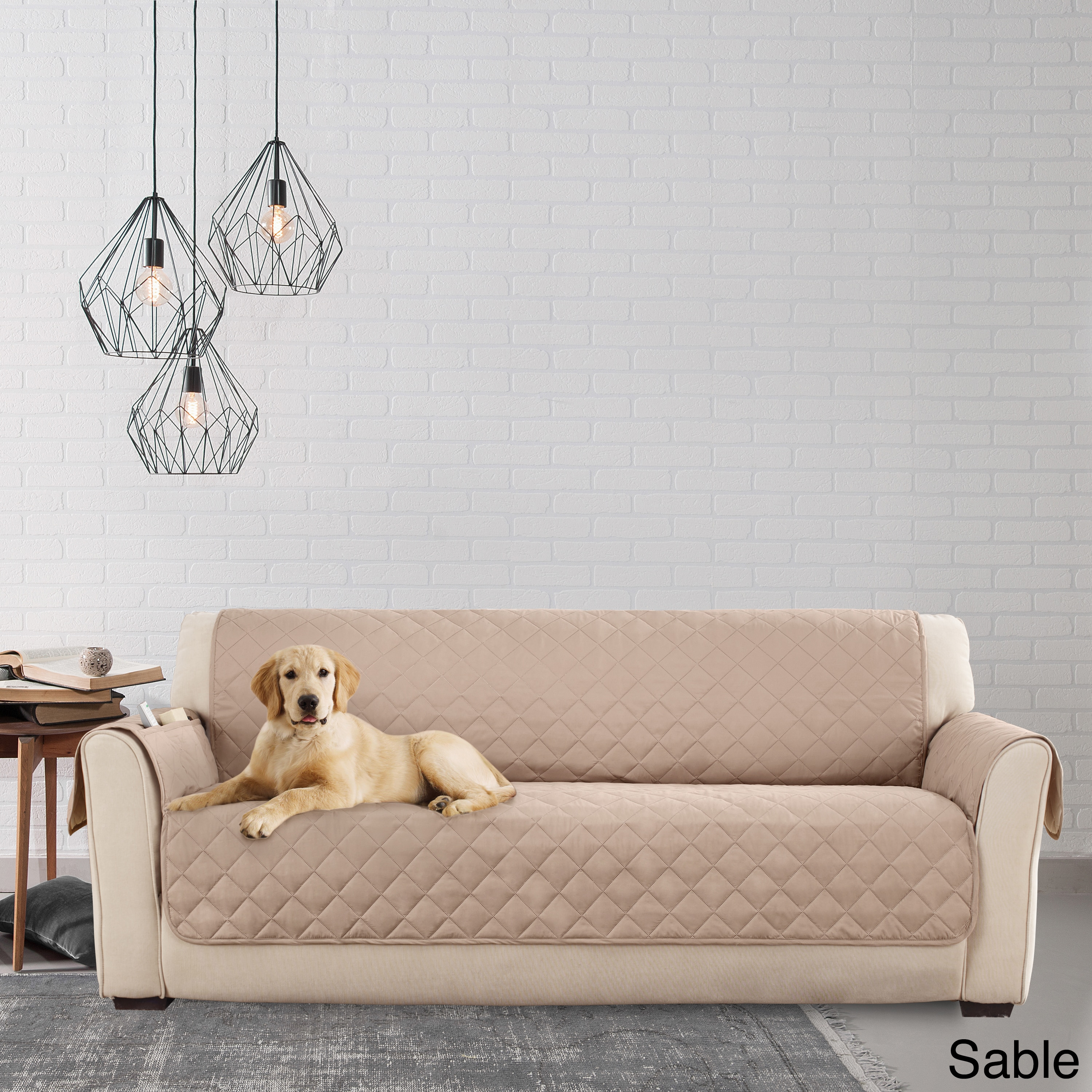 Sure Fit Microfiber Non-Slip Sofa Pet Cover/Furniture Protector - Free  Shipping On Orders Over $45 - Overstock.com - 18838935