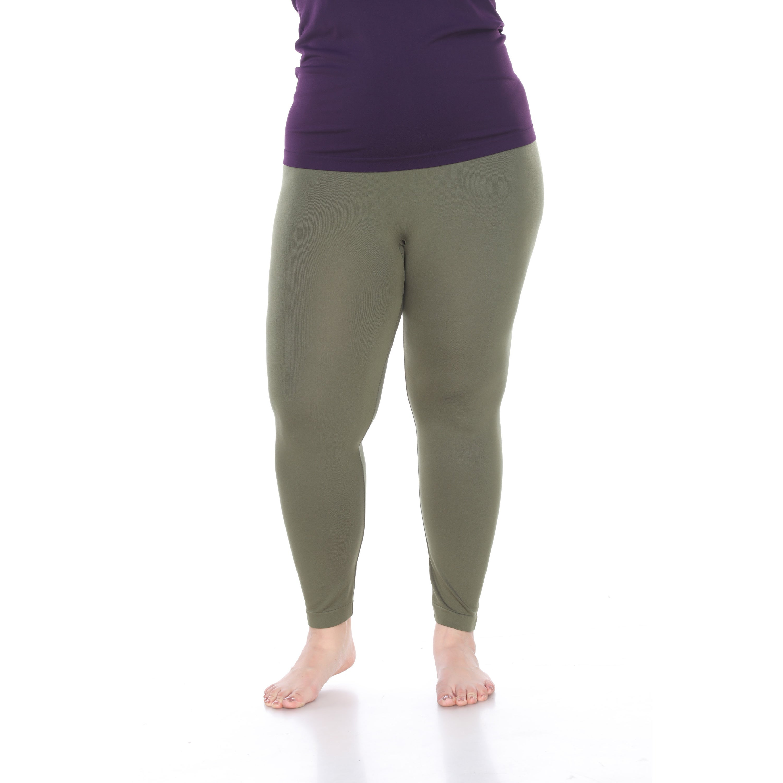 9453a940776 Shop White Mark Women s Plus Size Super-Stretch Solid Leggings ...