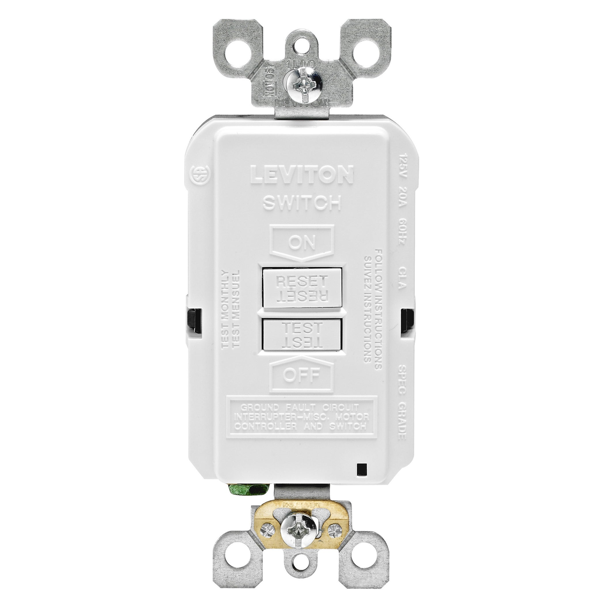 Shop Leviton Gfci Receptacle 20 Amps 5 20r 125 Volts White Free An Overview Of Groundfault Circuit Interrupter Eep Shipping On Orders Over 45 11953050