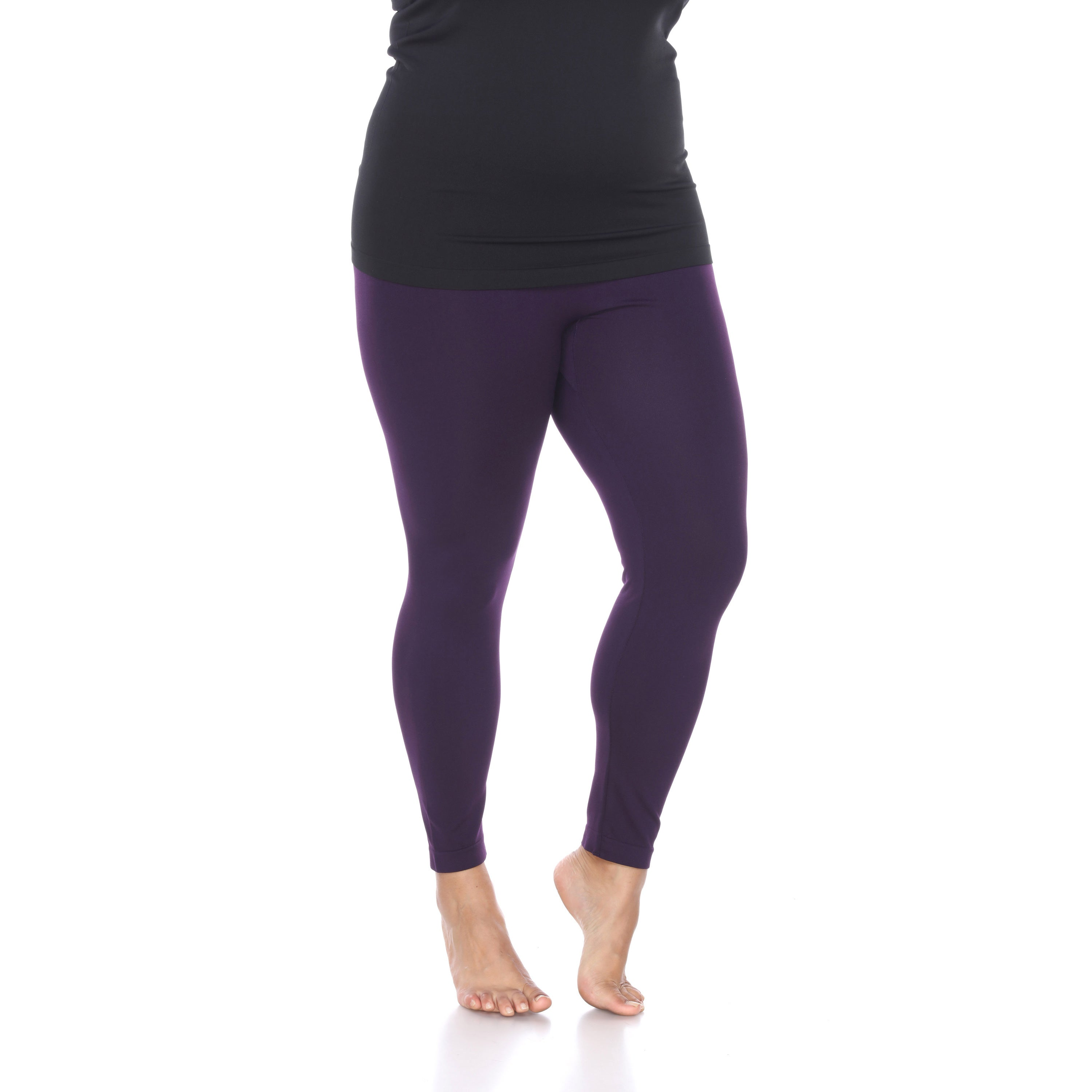 c89f97987ae32f Shop White Mark Women's Plus-size Polyester and Spandex Leggings (3-pack) -  On Sale - Free Shipping On Orders Over $45 - Overstock - 11959276