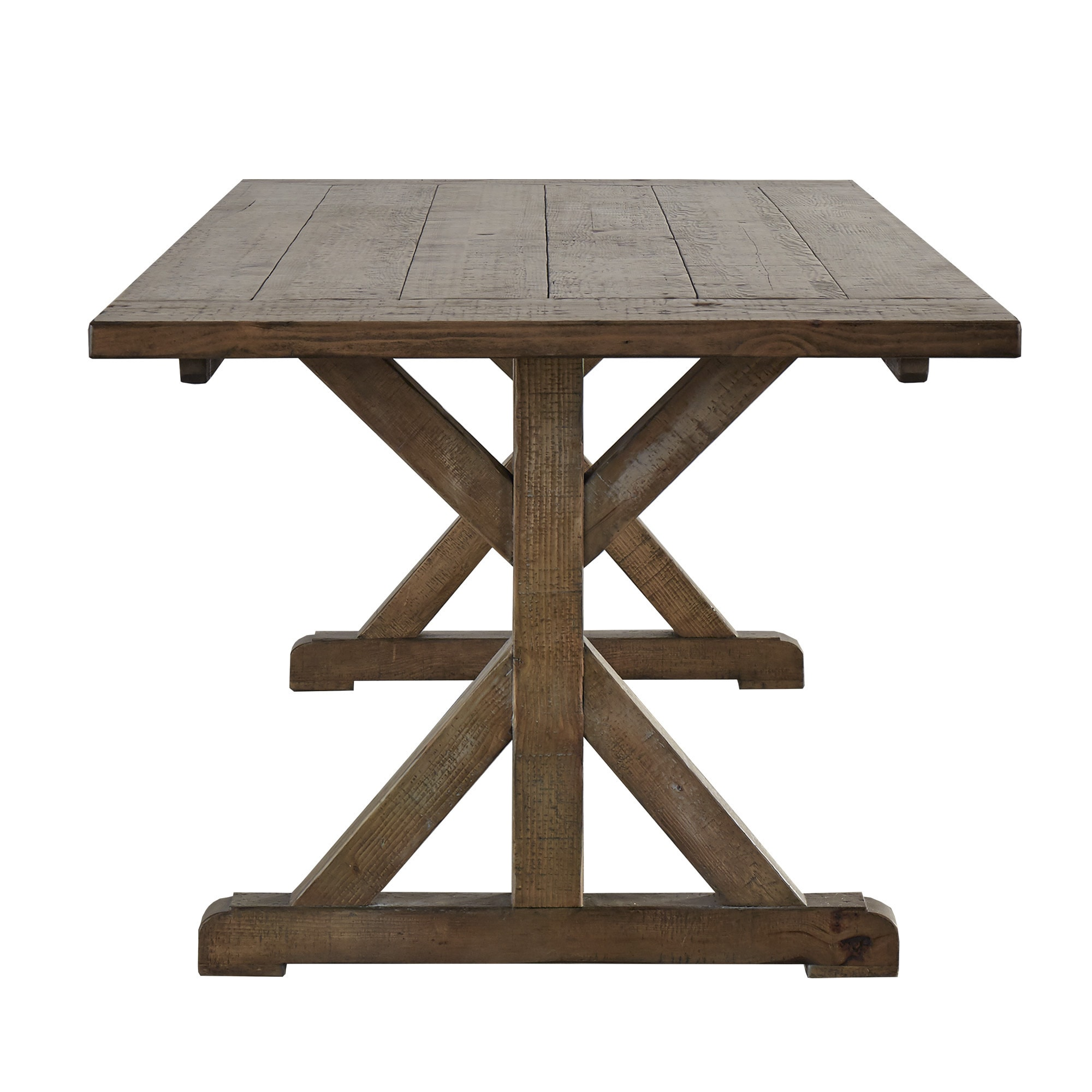 Paloma Rustic Reclaimed Wood Rectangular Trestle Farm Table by iNSPIRE Q  Artisan - Free Shipping Today - Overstock.com - 18845558