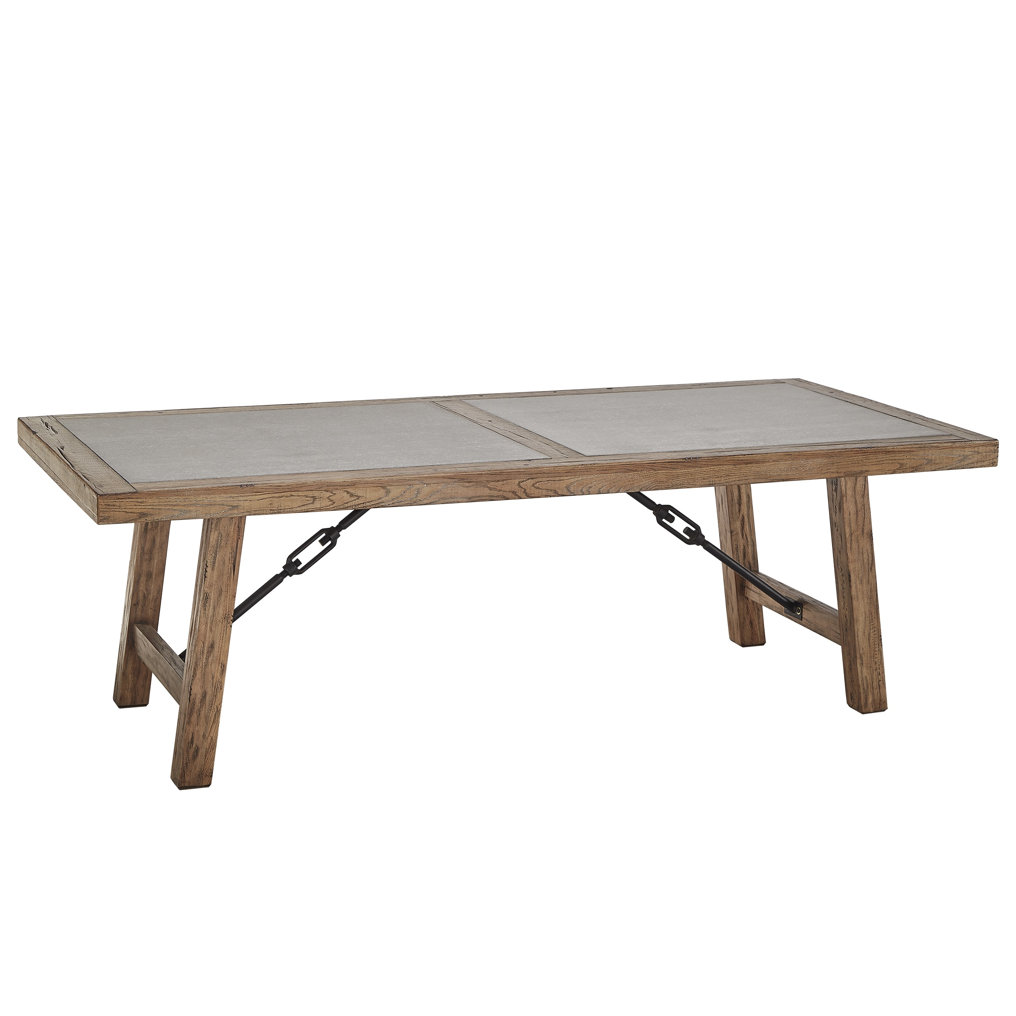 Attractive Dakota Oak Reinforced Concrete Trestle Dining Table By INSPIRE Q Artisan    Free Shipping Today   Overstock.com   18845777