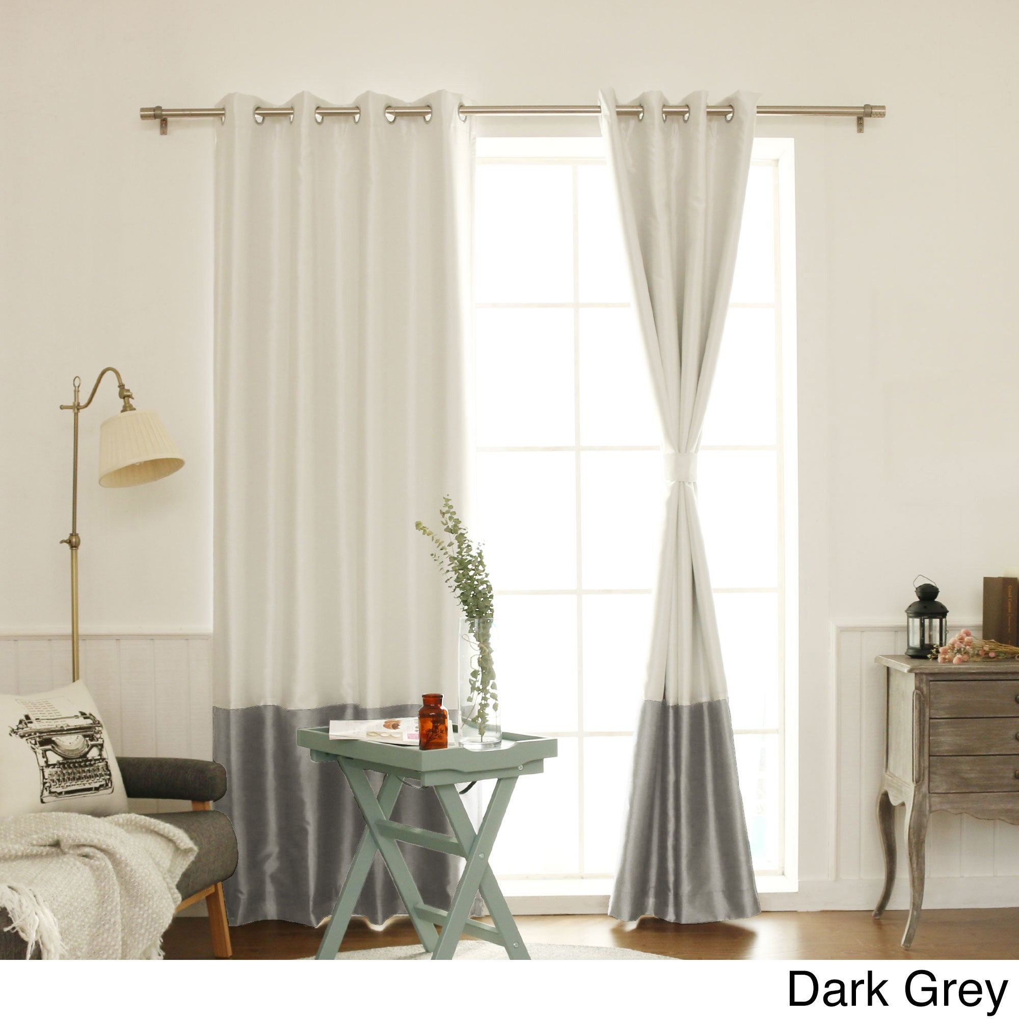 curtains top colorblock blackout grommet thermal home antique com dp amazon insulated best navy fashion bronze