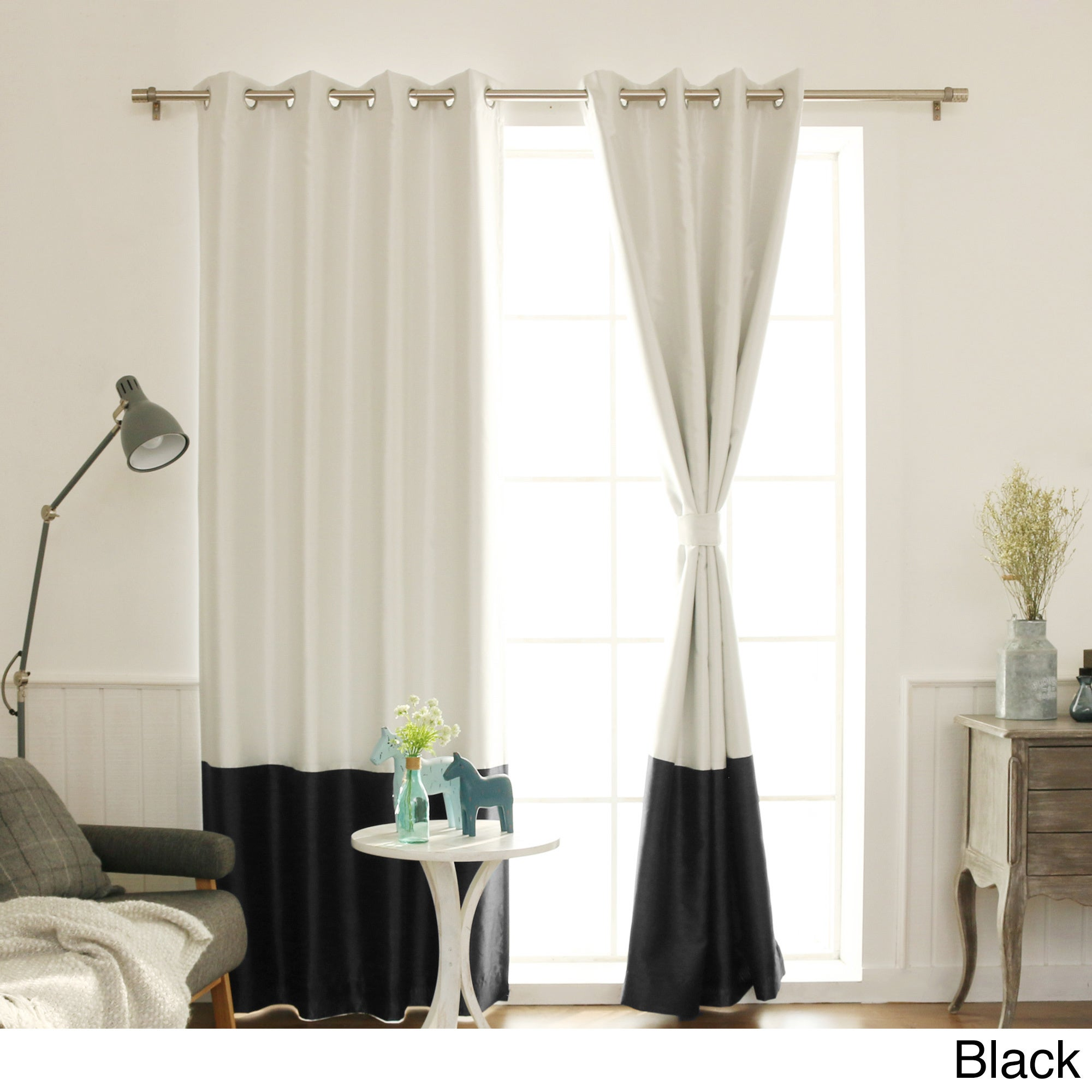 chevron panels quincy panel striped black blackout and white curtains curtain