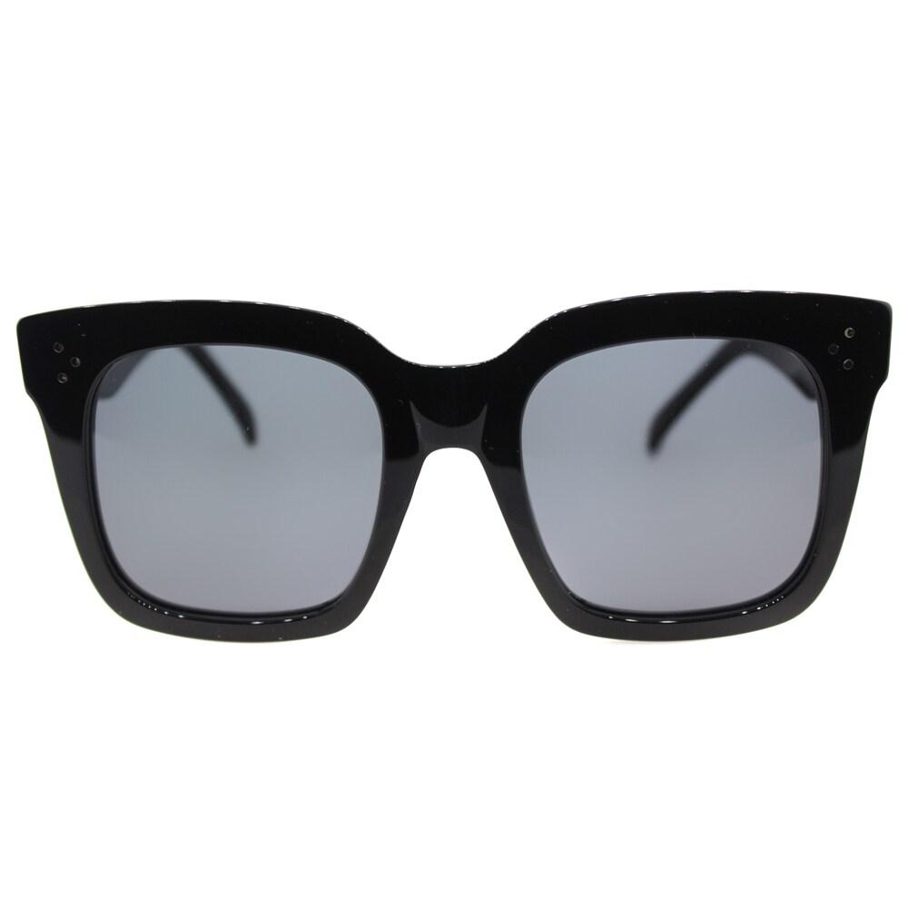 9d42c52c428f Shop Celine Tilda CL 41076 /S 807 Women's Black Plastic Square Sunglasses  Grey Lens - Free Shipping Today - Overstock - 11963789
