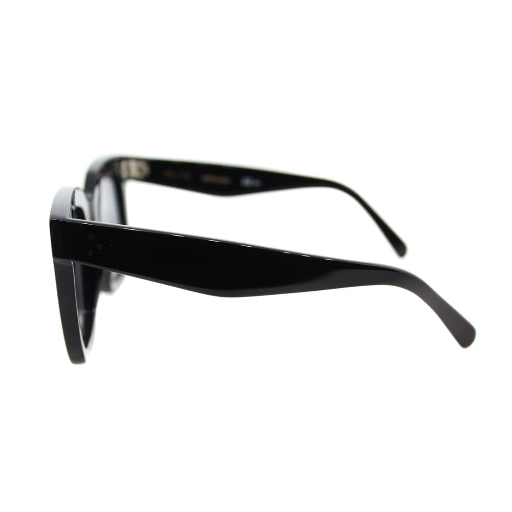 334d5a1e7840 Shop Celine Tilda CL 41076  S 807 Women s Black Plastic Square Sunglasses  Grey Lens - Free Shipping Today - Overstock - 11963789