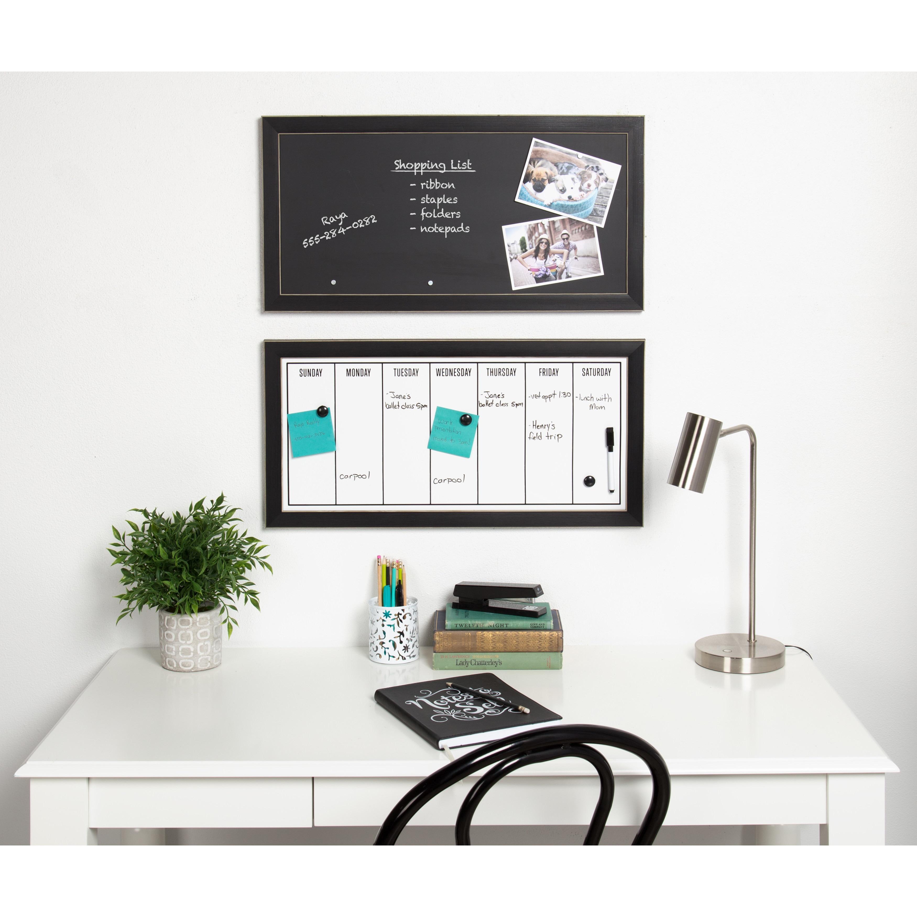 Shop Black Framed Magnetic Chalkboard - Free Shipping On Orders Over ...