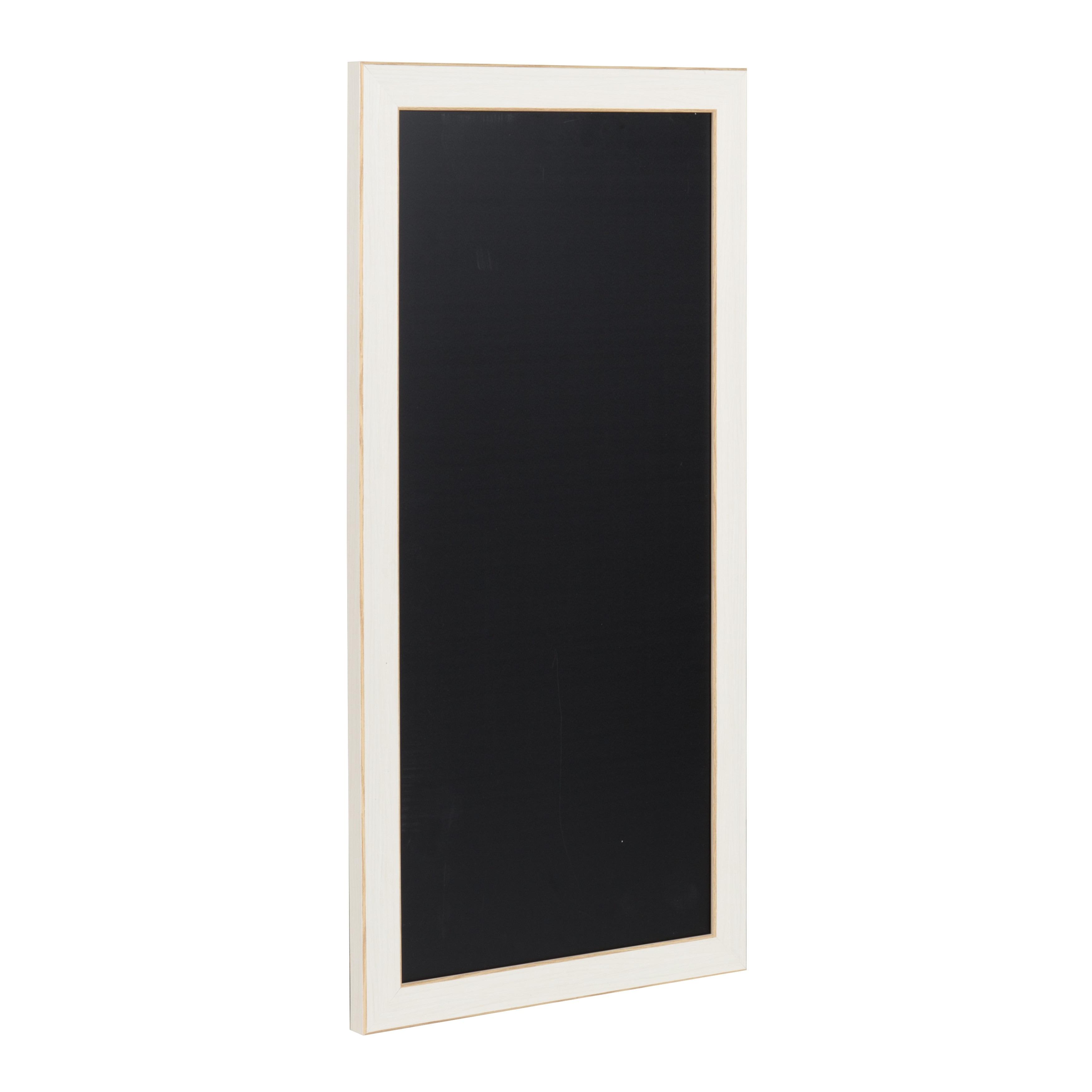 Shop Black Framed Magnetic Chalkboard - On Sale - Free Shipping On ...