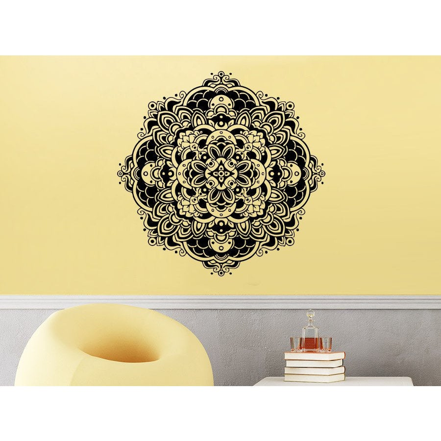 Shop Pattern Floral Design Amulet Gym Wall Art Sticker Decal - Free ...